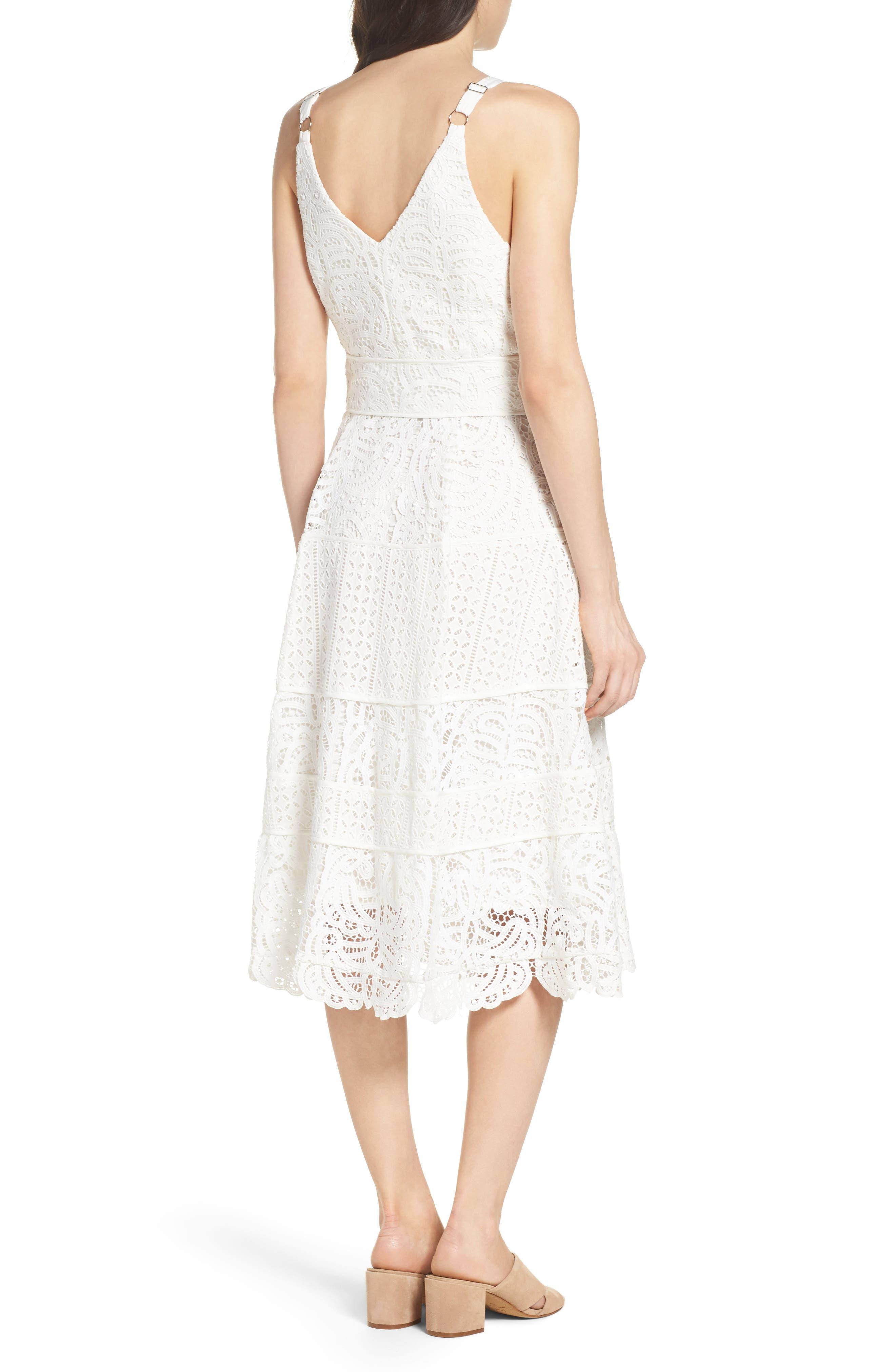Fit & Flare Midi Dress,                             Alternate thumbnail 7, color,