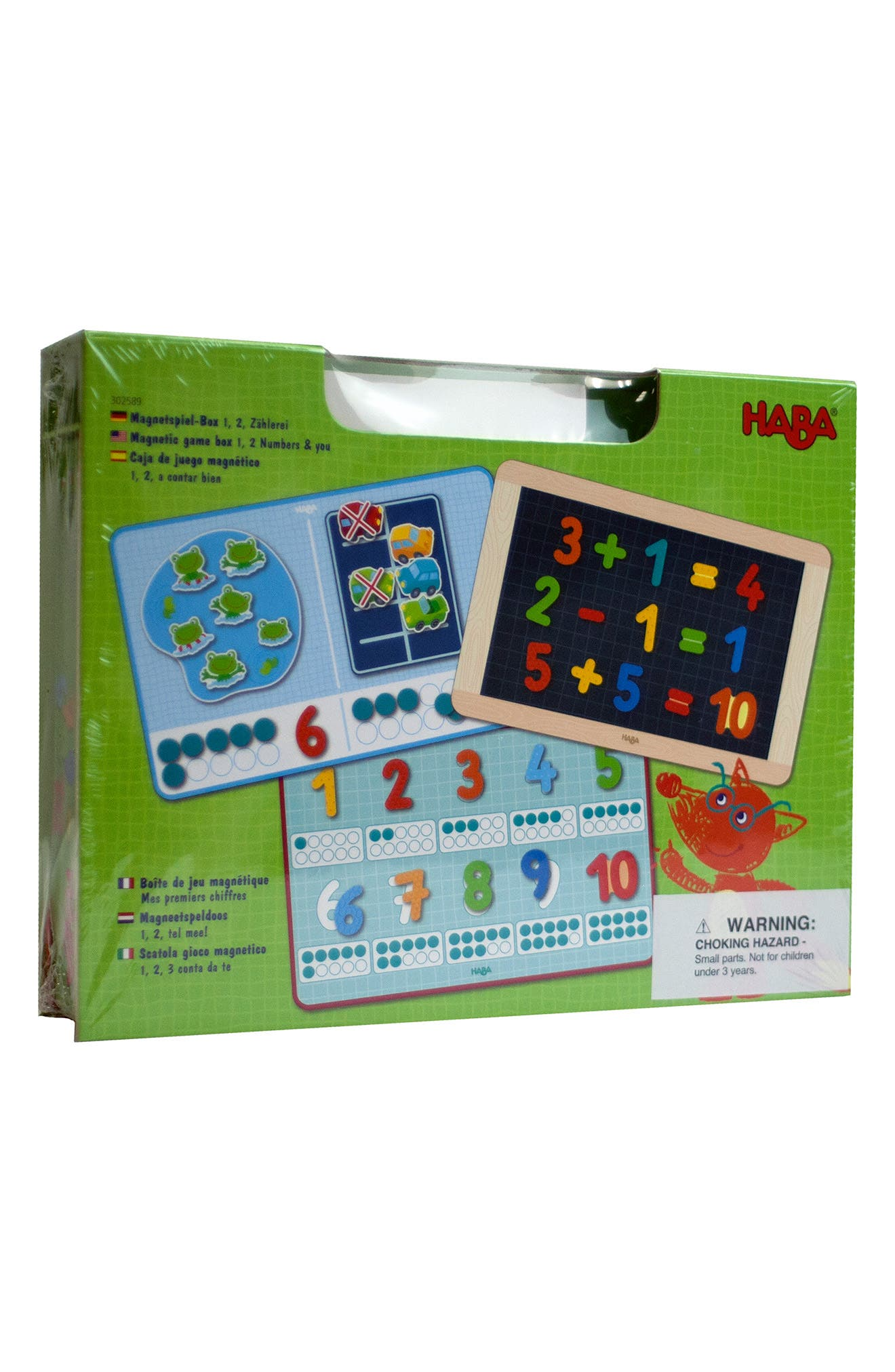 Toddler Haba Magnetic 1 2 Number Math Game Box