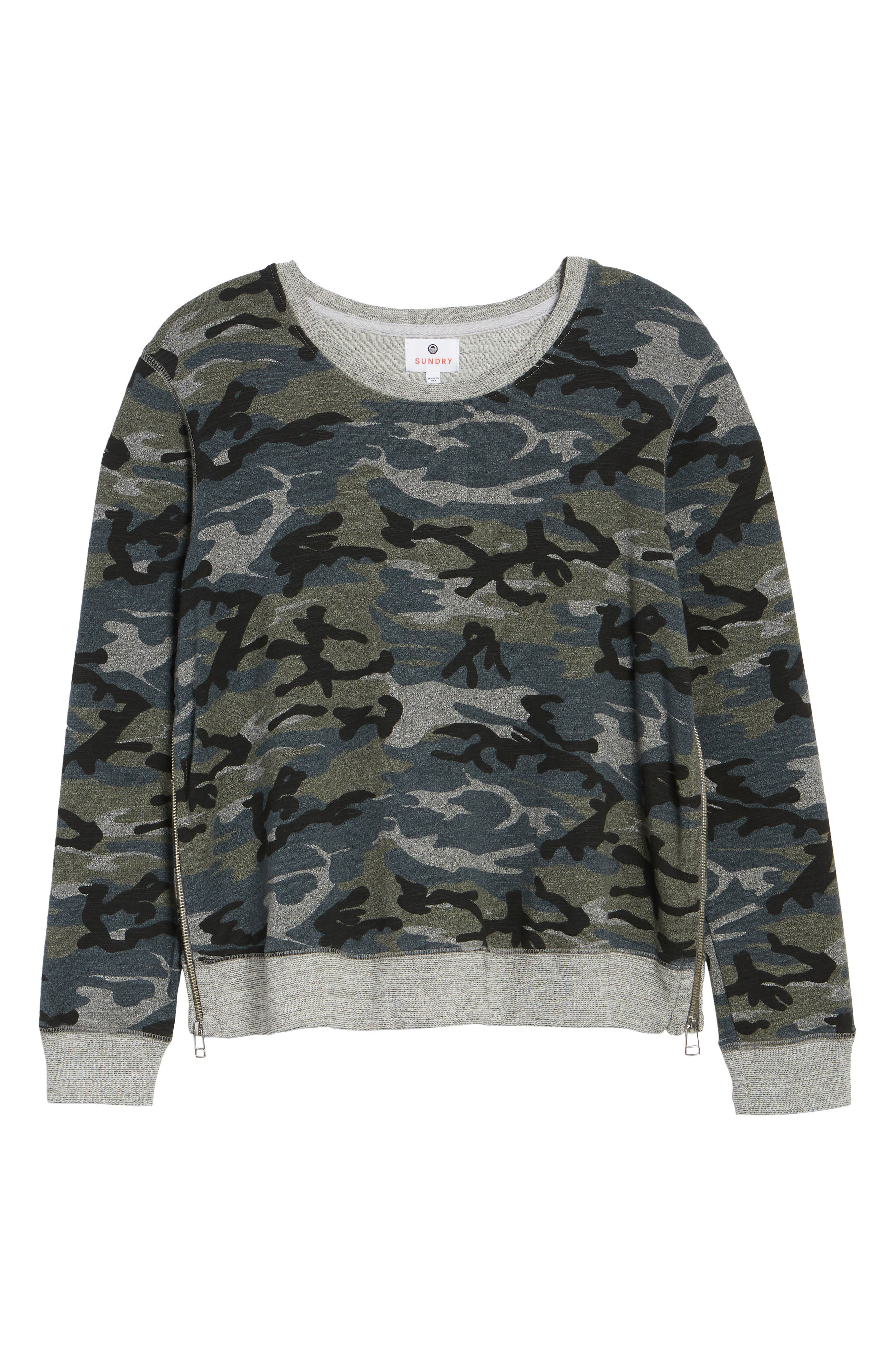 Camo Pullover,                             Alternate thumbnail 7, color,                             020