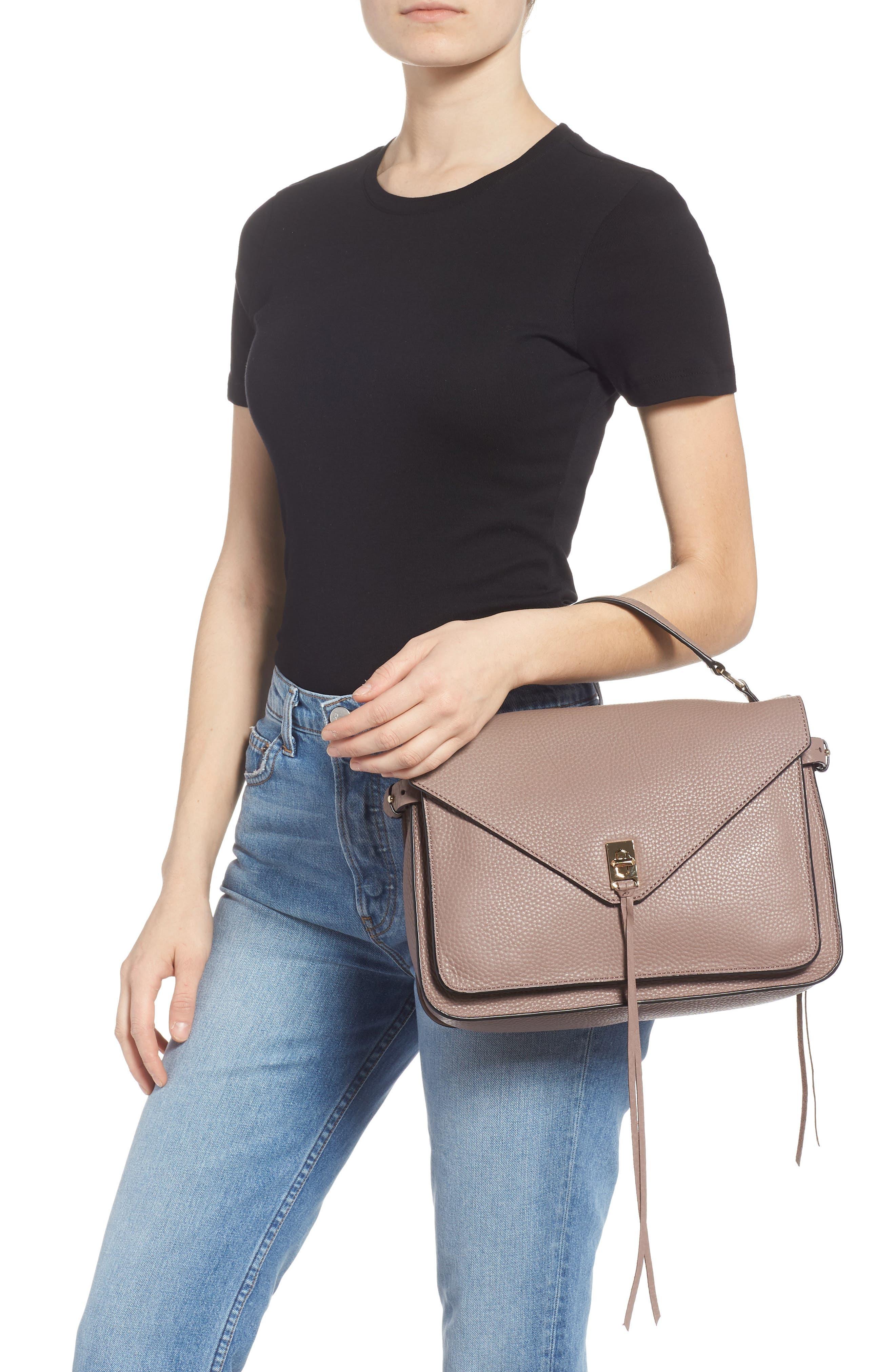 Darren Leather Messenger Bag,                             Alternate thumbnail 2, color,                             MINK