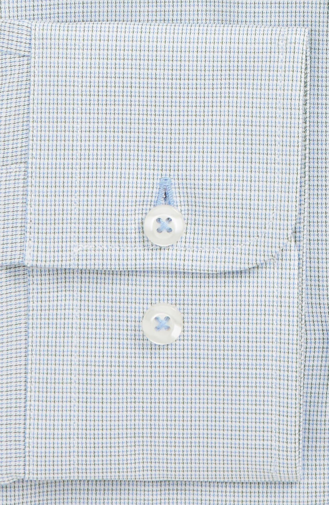 Trim Fit Check Dress Shirt,                             Alternate thumbnail 2, color,                             OLIVE