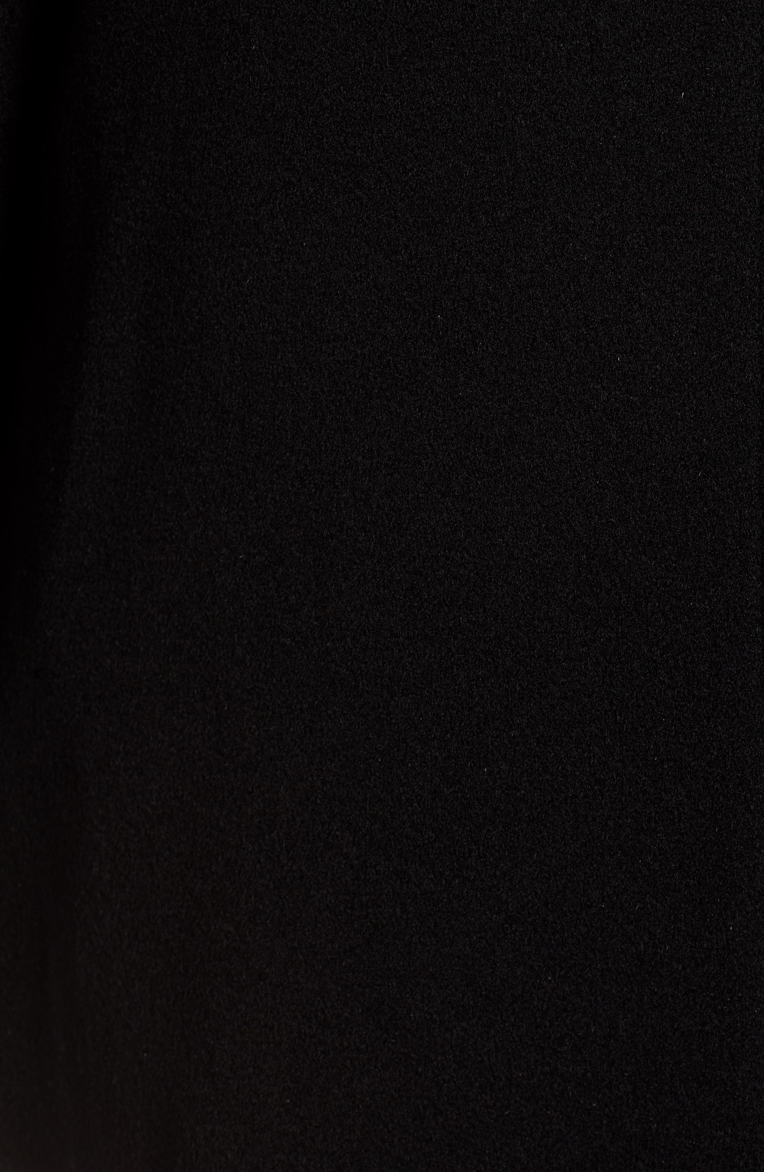 Placket Front Wool Car Coat,                             Alternate thumbnail 7, color,                             BLACK