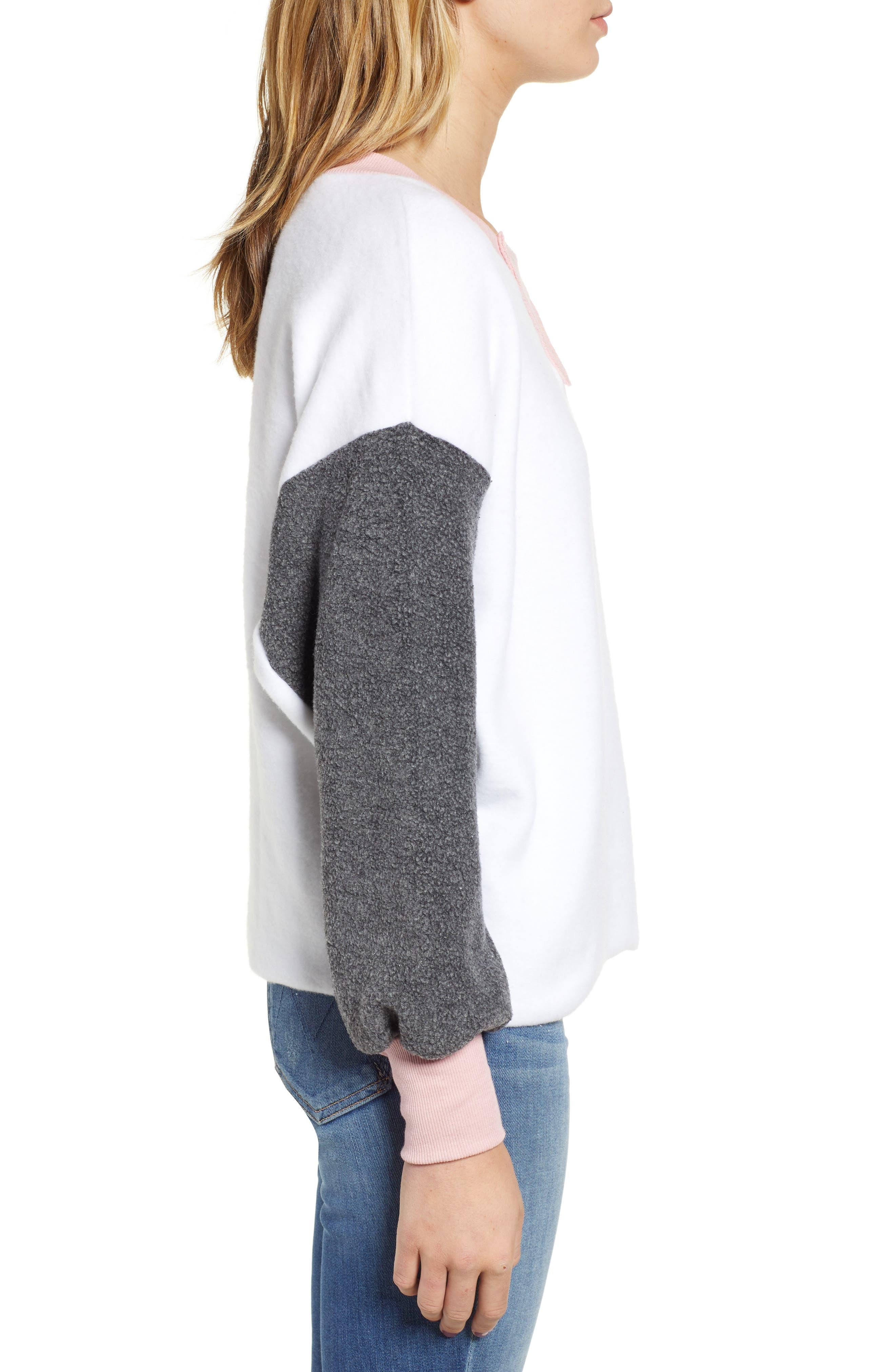 True Love Sweatshirt,                             Alternate thumbnail 3, color,                             CLEAN WHITE MULTI