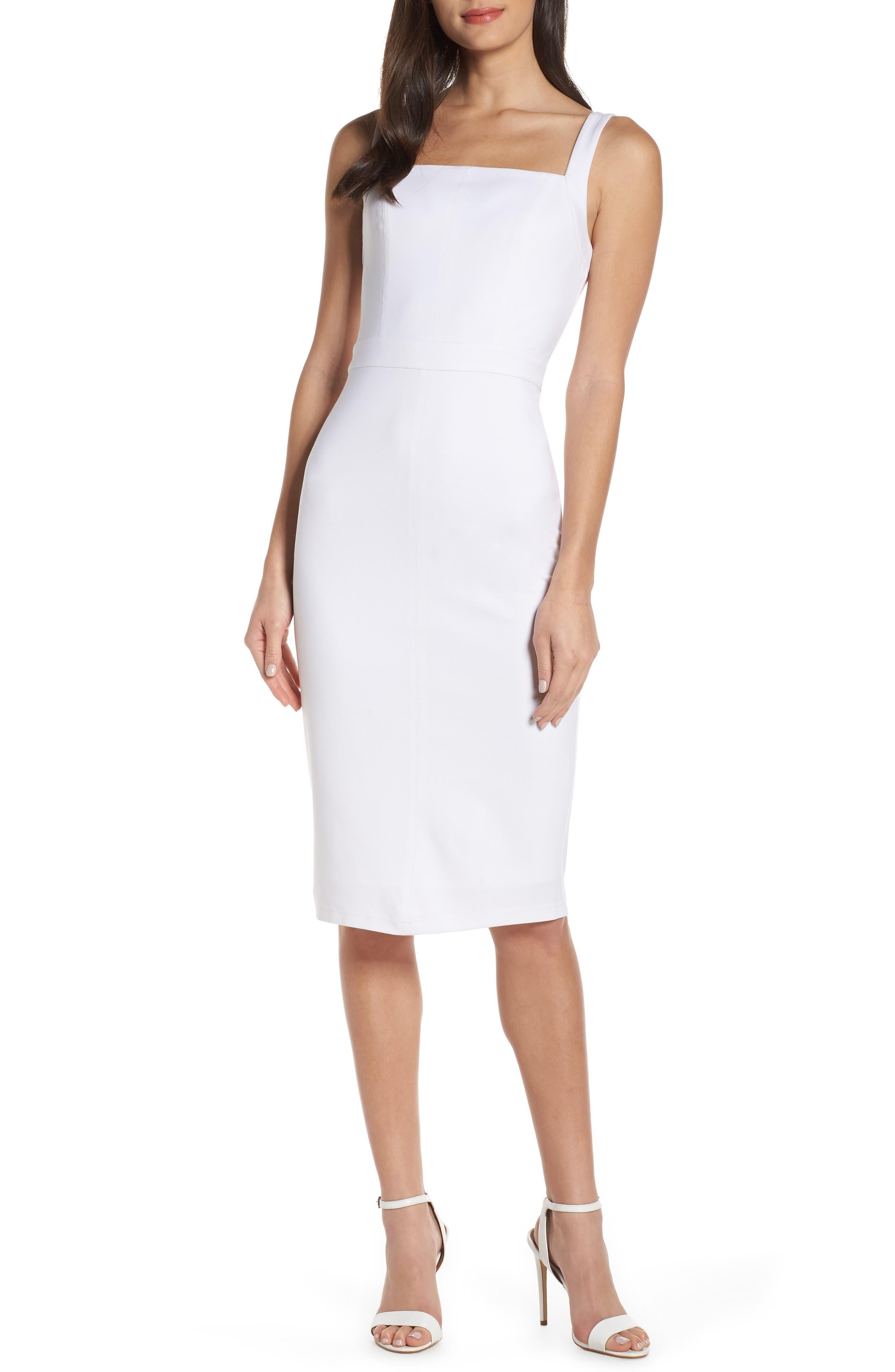 Ali & Jay Wisteria Wandering Sheath Dress, White