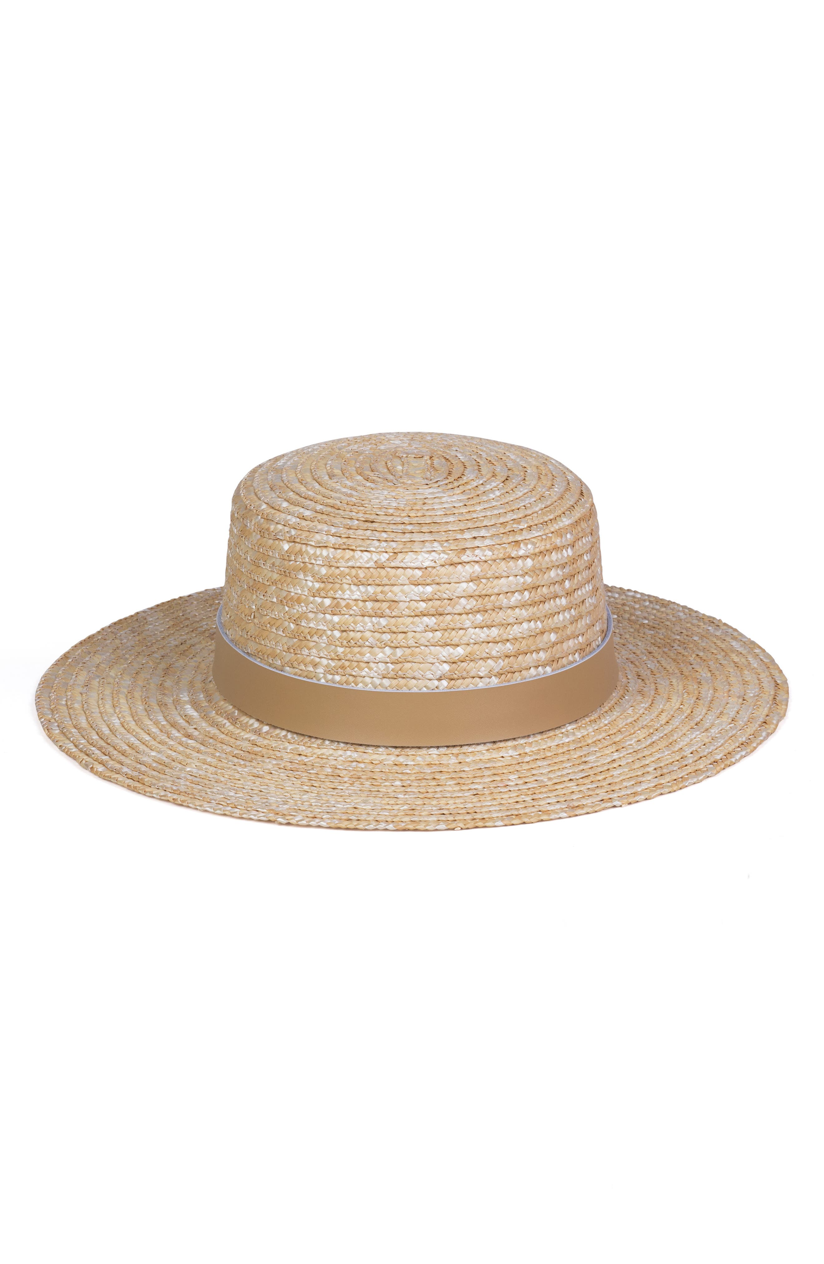 LACK OF COLOR Spencer Leather Band Straw Hat - Brown