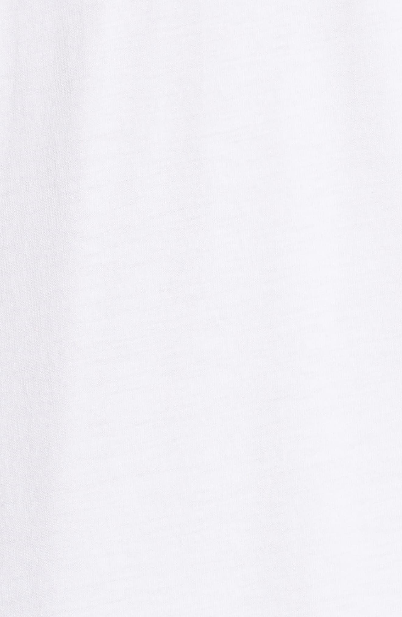 Drop Waist Taffeta Hem T-Shirt Dress,                             Alternate thumbnail 5, color,                             100