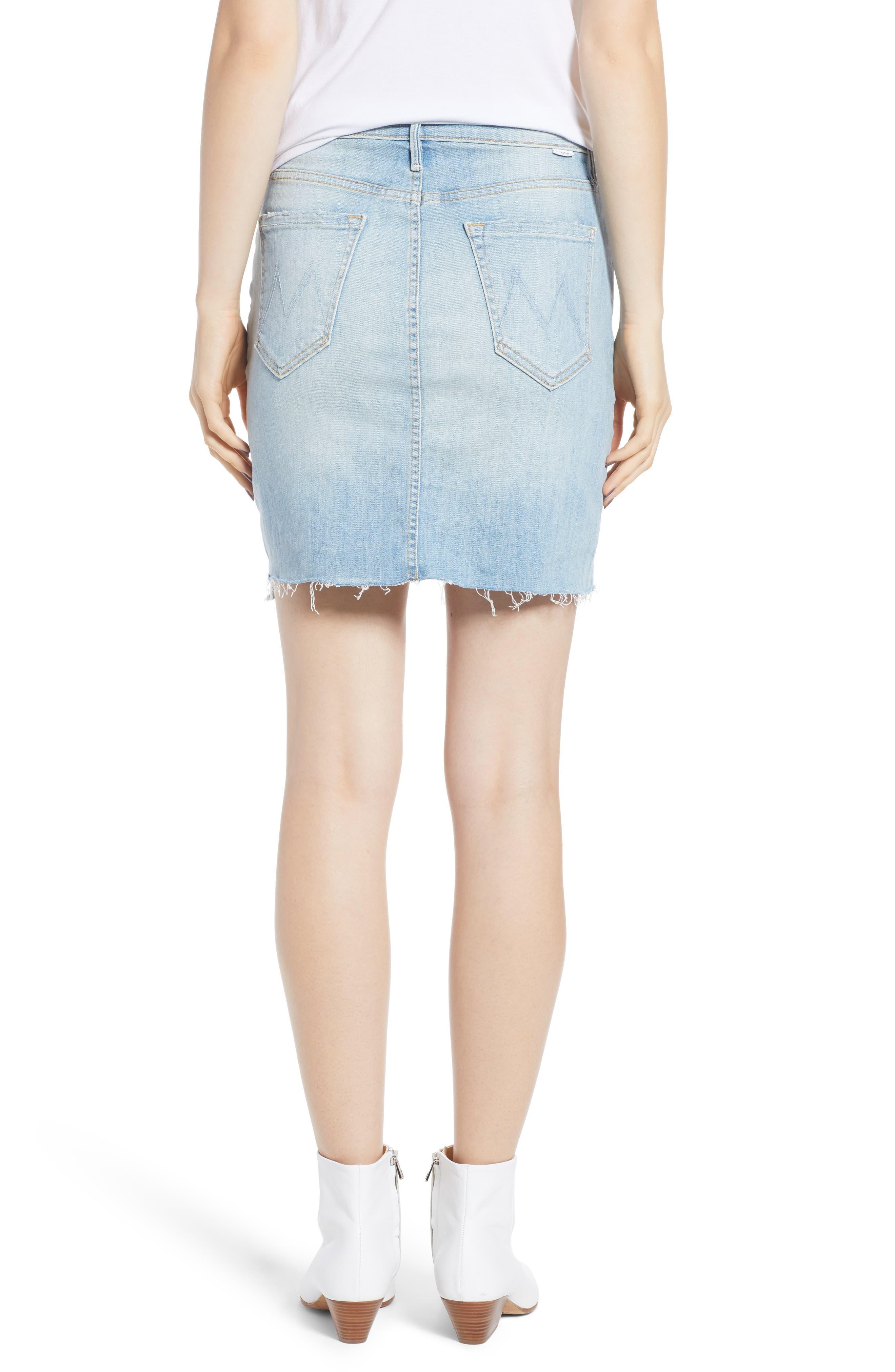 The Sacred Frayed High Waist Miniskirt,                             Alternate thumbnail 2, color,                             WRITTEN IN THE SAND