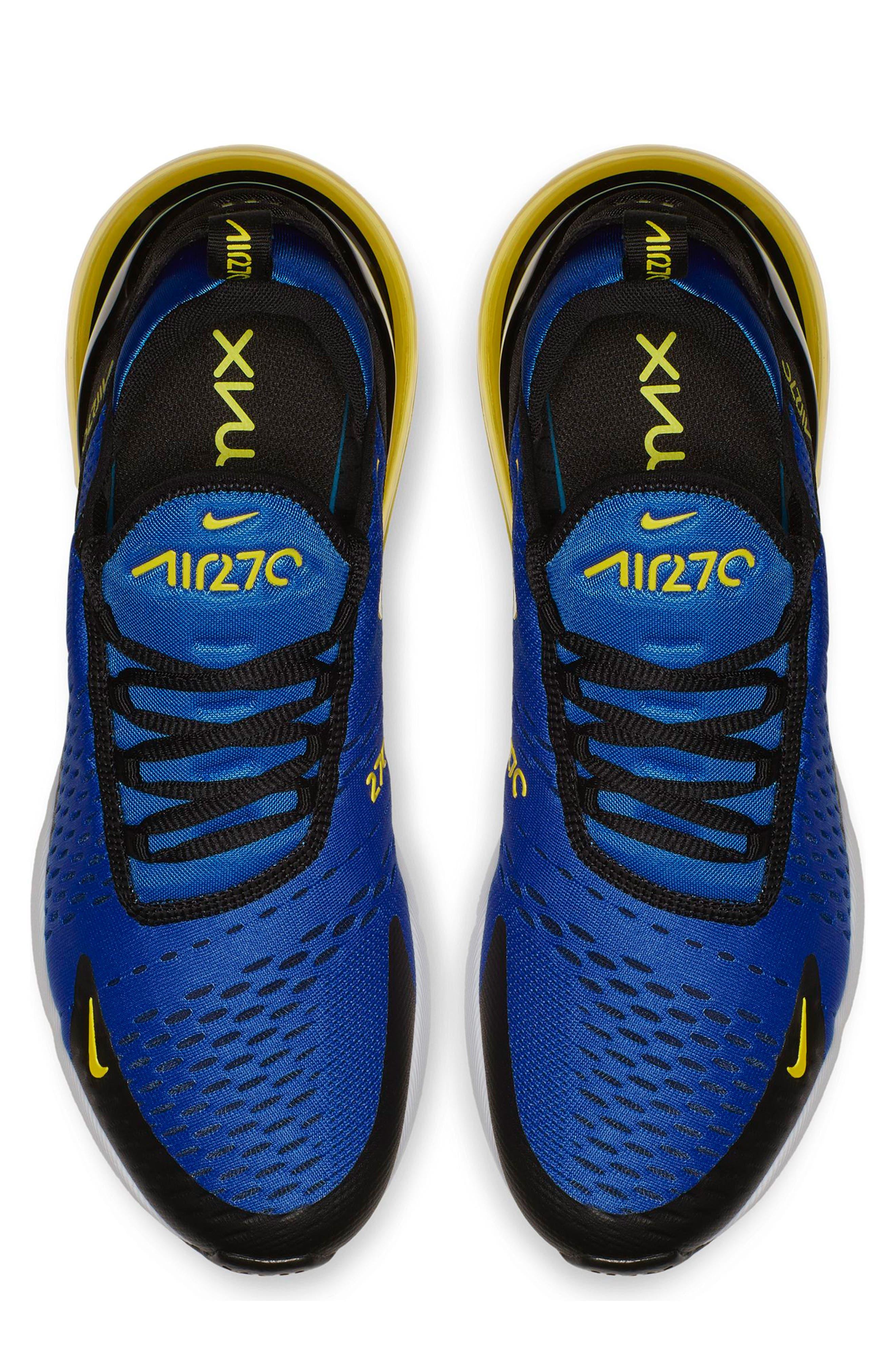 Air Max 270 Sneaker,                             Alternate thumbnail 3, color,                             GAME ROYAL/ WHITE/ BLACK