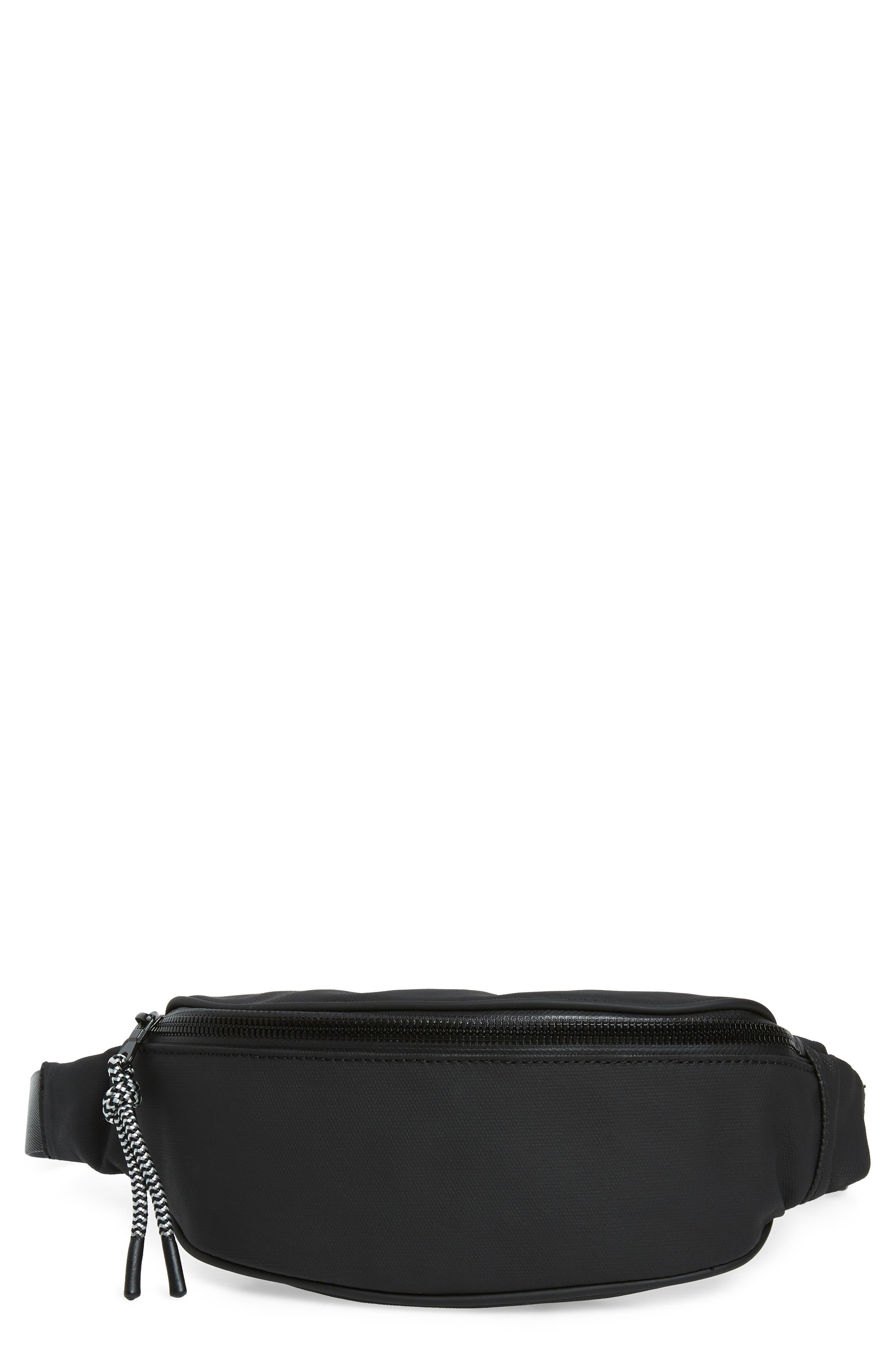 Mason Water Resistant Belt Bag,                         Main,                         color, BLACK/ BLACK