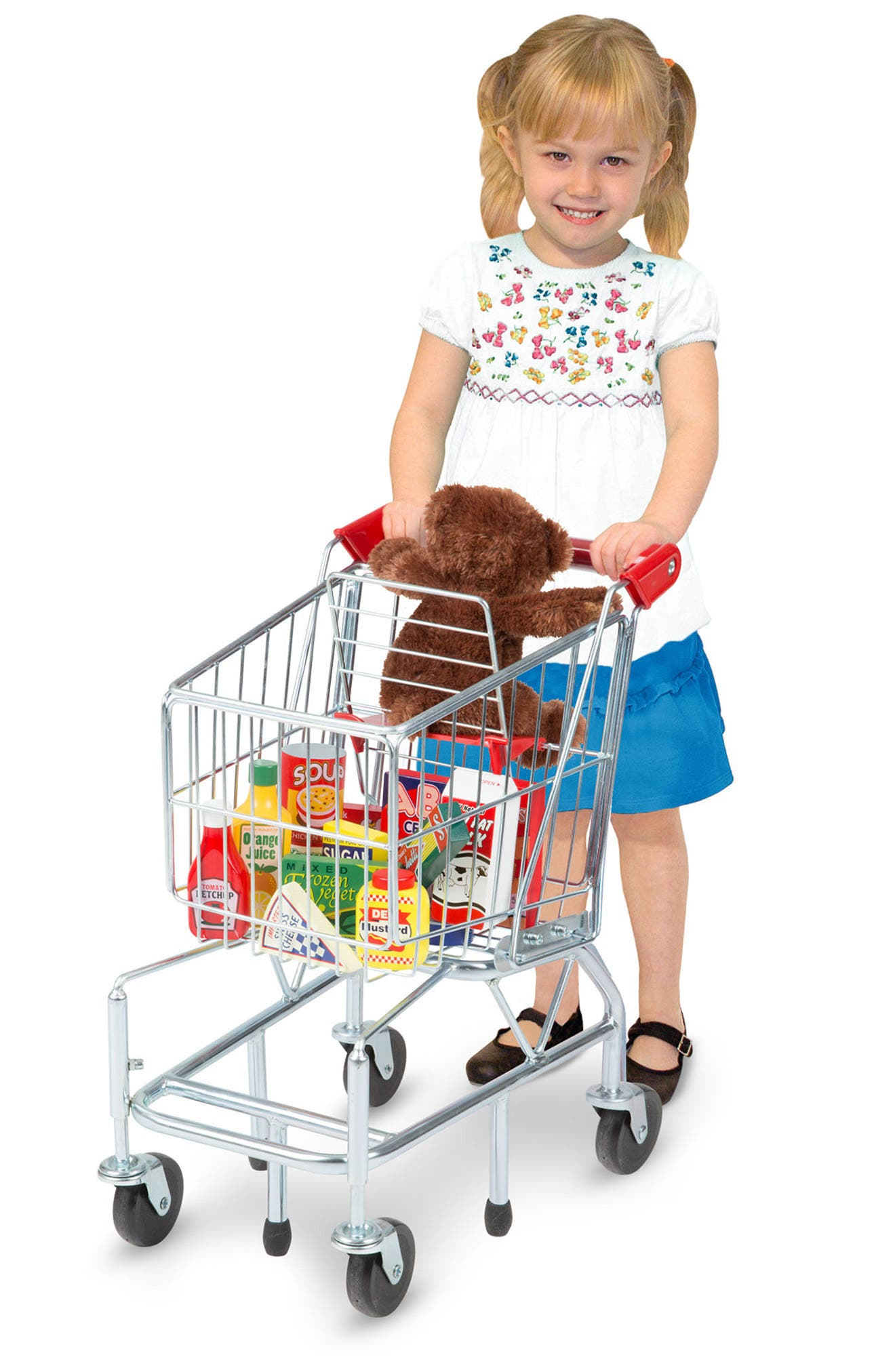 Grocery Shopping Cart,                             Alternate thumbnail 2, color,                             GREY