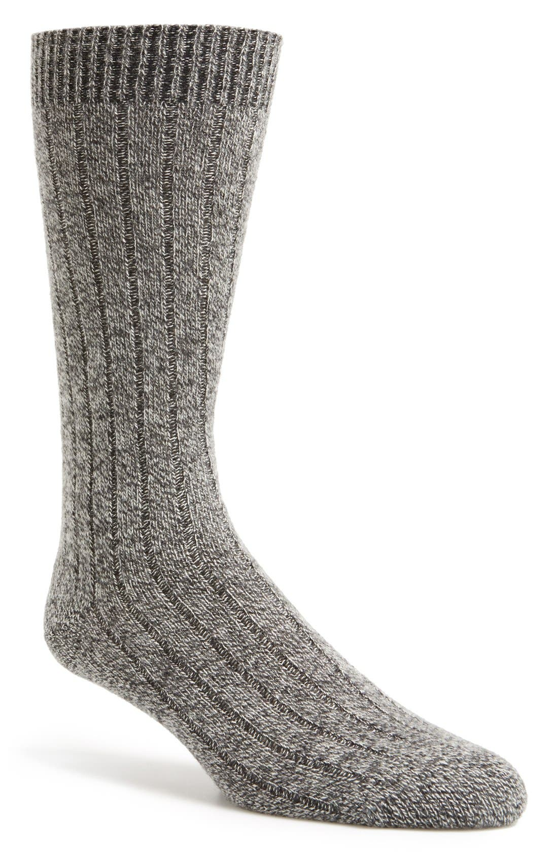 'Waddington' Cashmere Blend Mid Calf Socks,                             Main thumbnail 5, color,