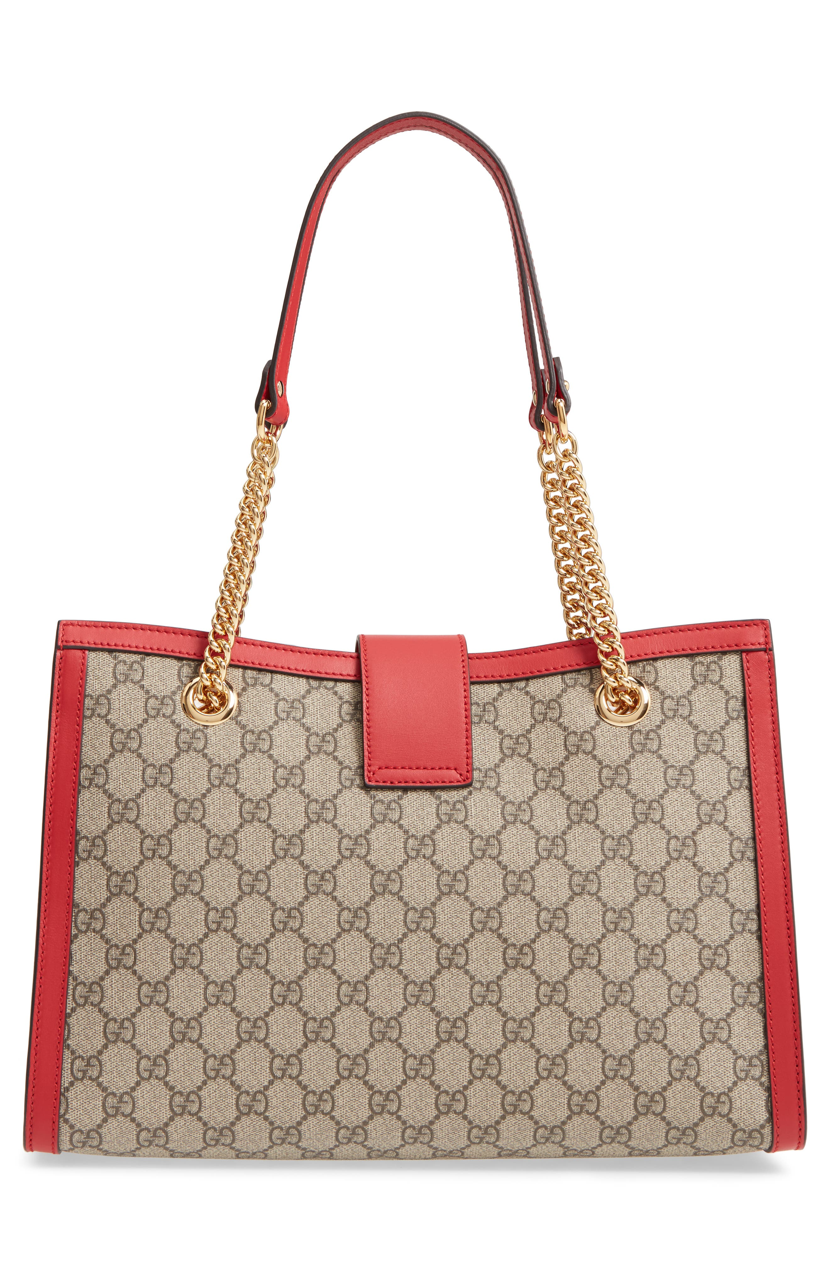 Medium Padlock GG Supreme Canvas Tote,                             Alternate thumbnail 3, color,                             283