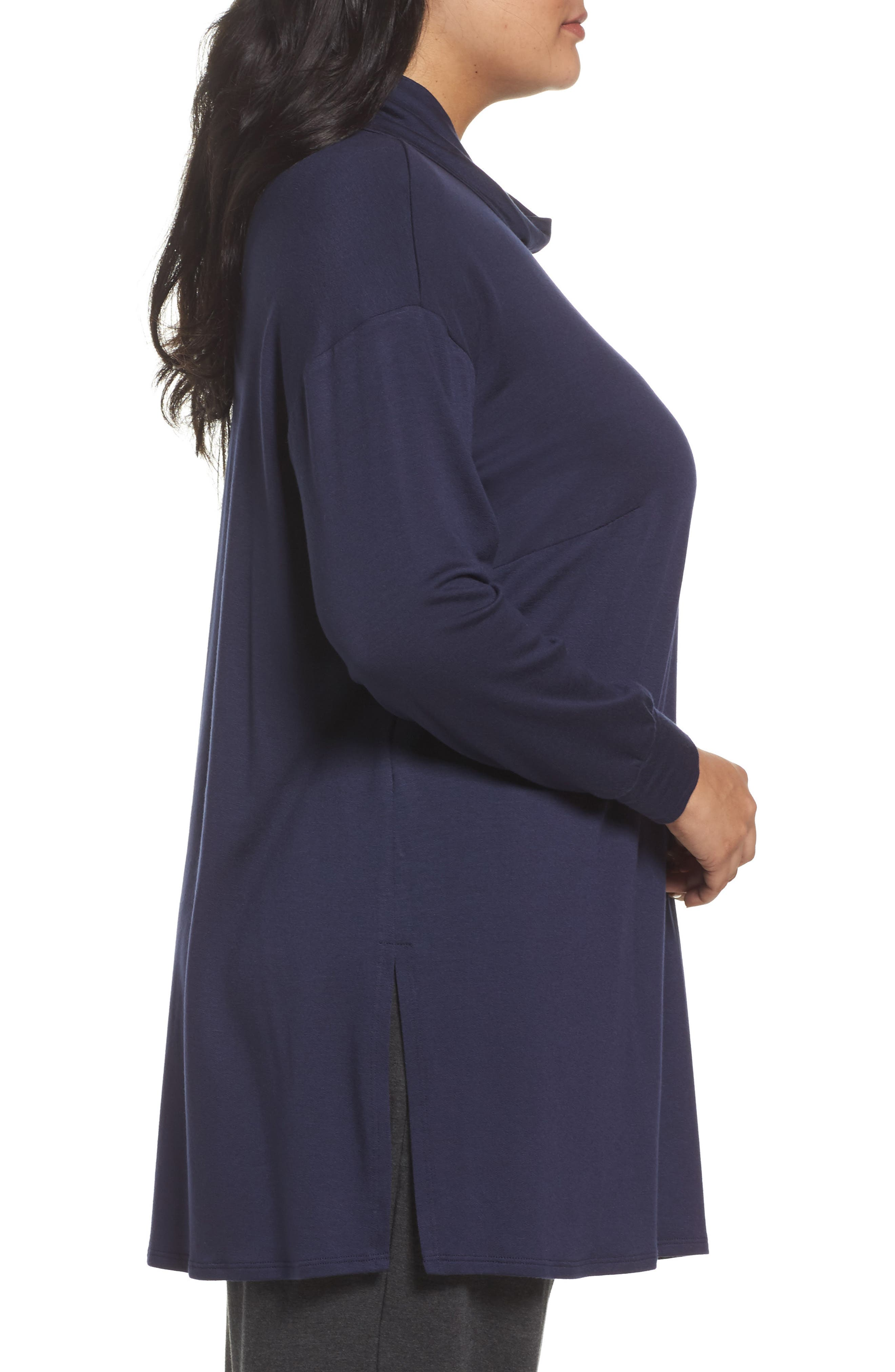 Funnel Neck Jersey Tunic,                             Alternate thumbnail 9, color,