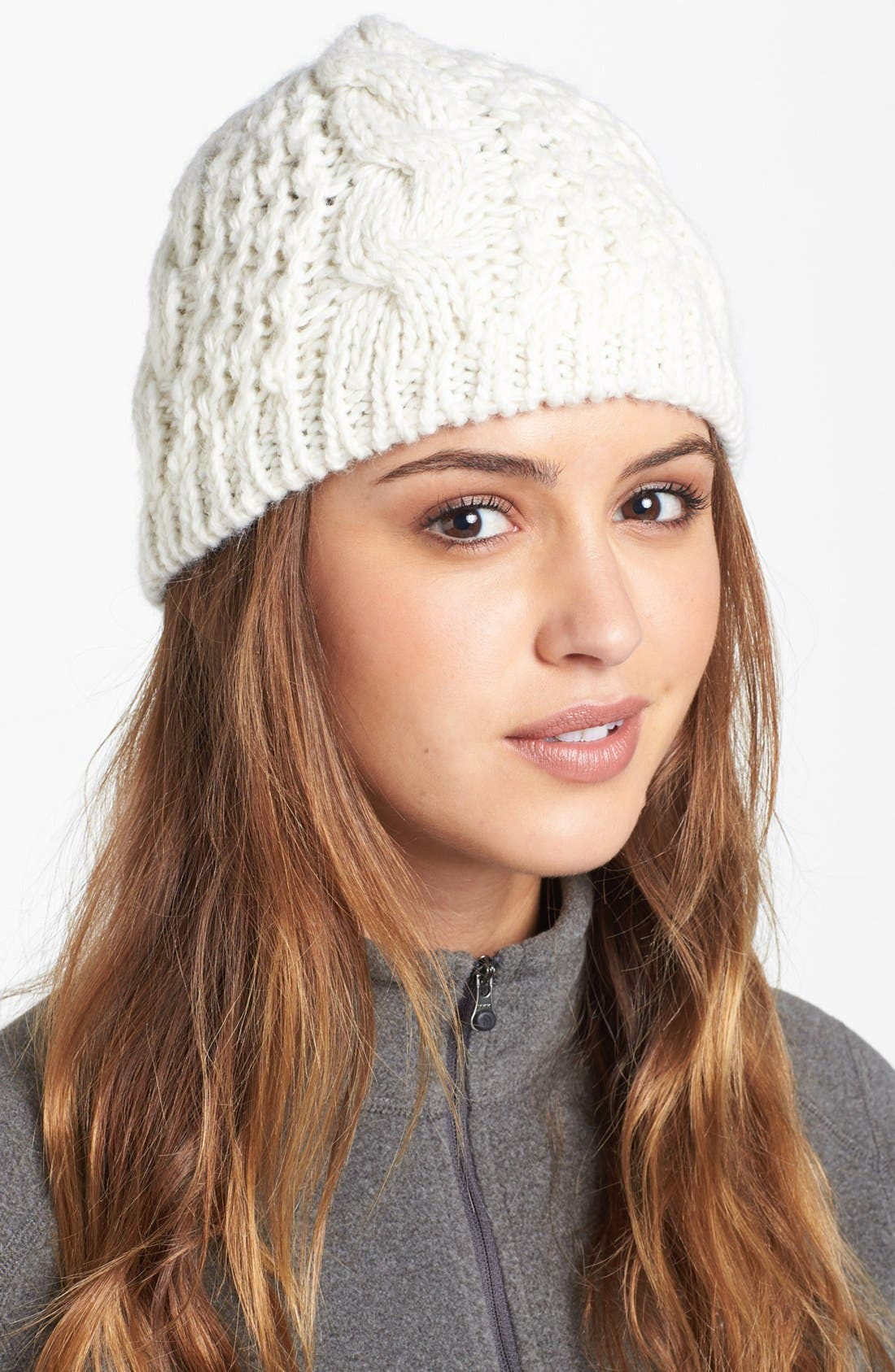 'Minna' Cable Knit Beanie,                             Main thumbnail 7, color,
