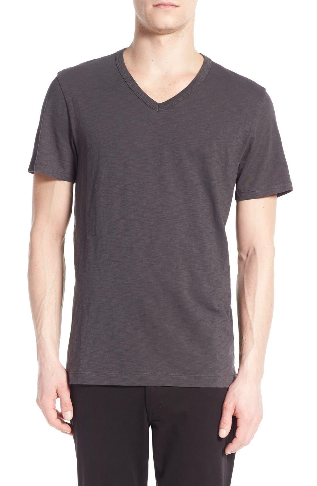 Slub V-Neck T-Shirt,                         Main,                         color, SPHERE