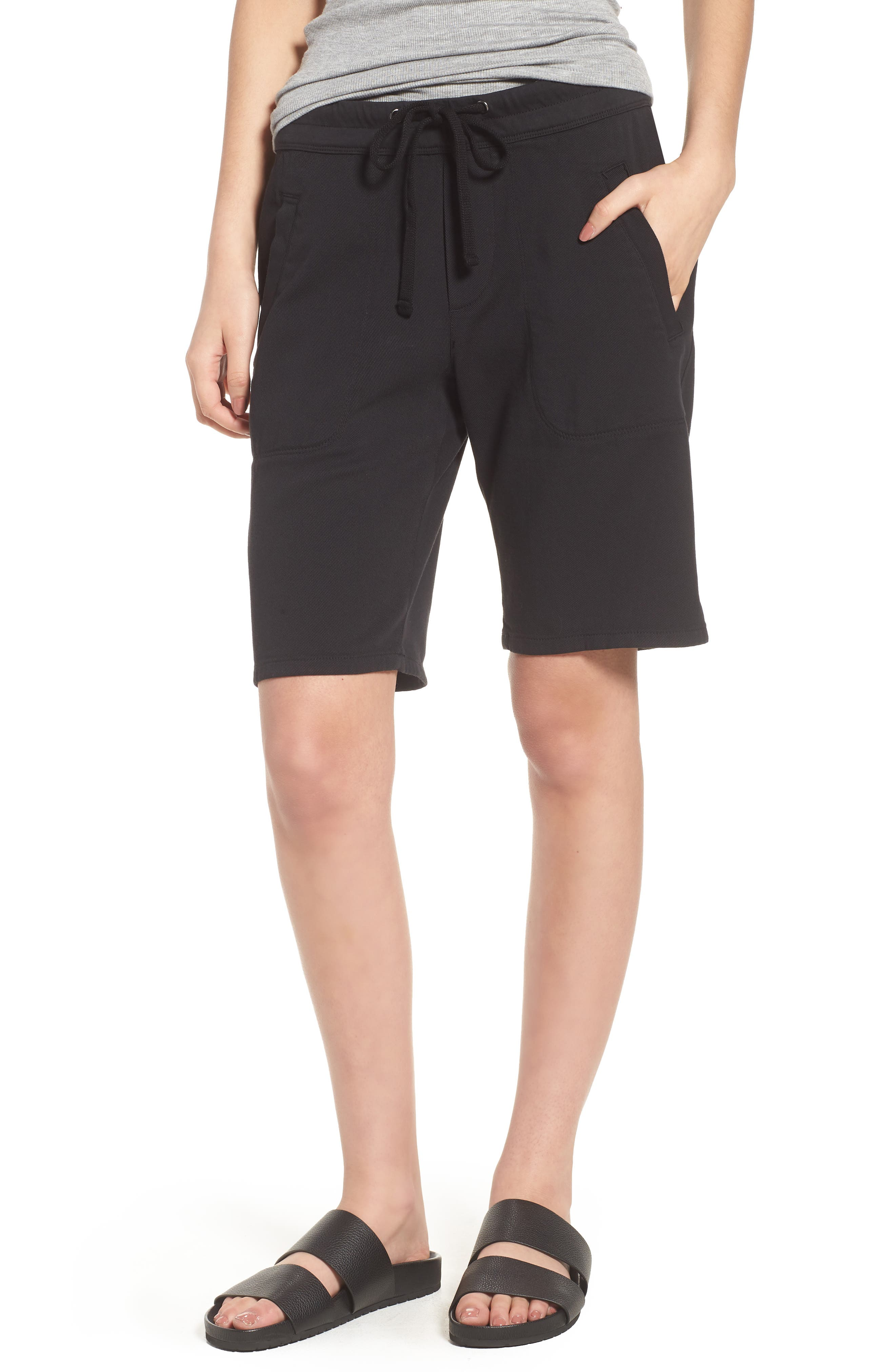 Soft Drape Utility Shorts,                             Main thumbnail 1, color,                             001