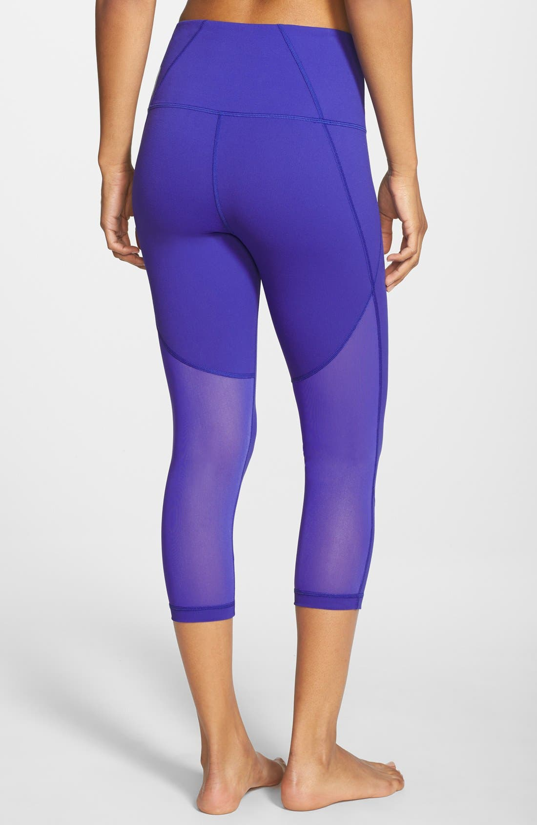 'Live In - Sultry' High Waist Mesh Crop Leggings,                             Main thumbnail 11, color,