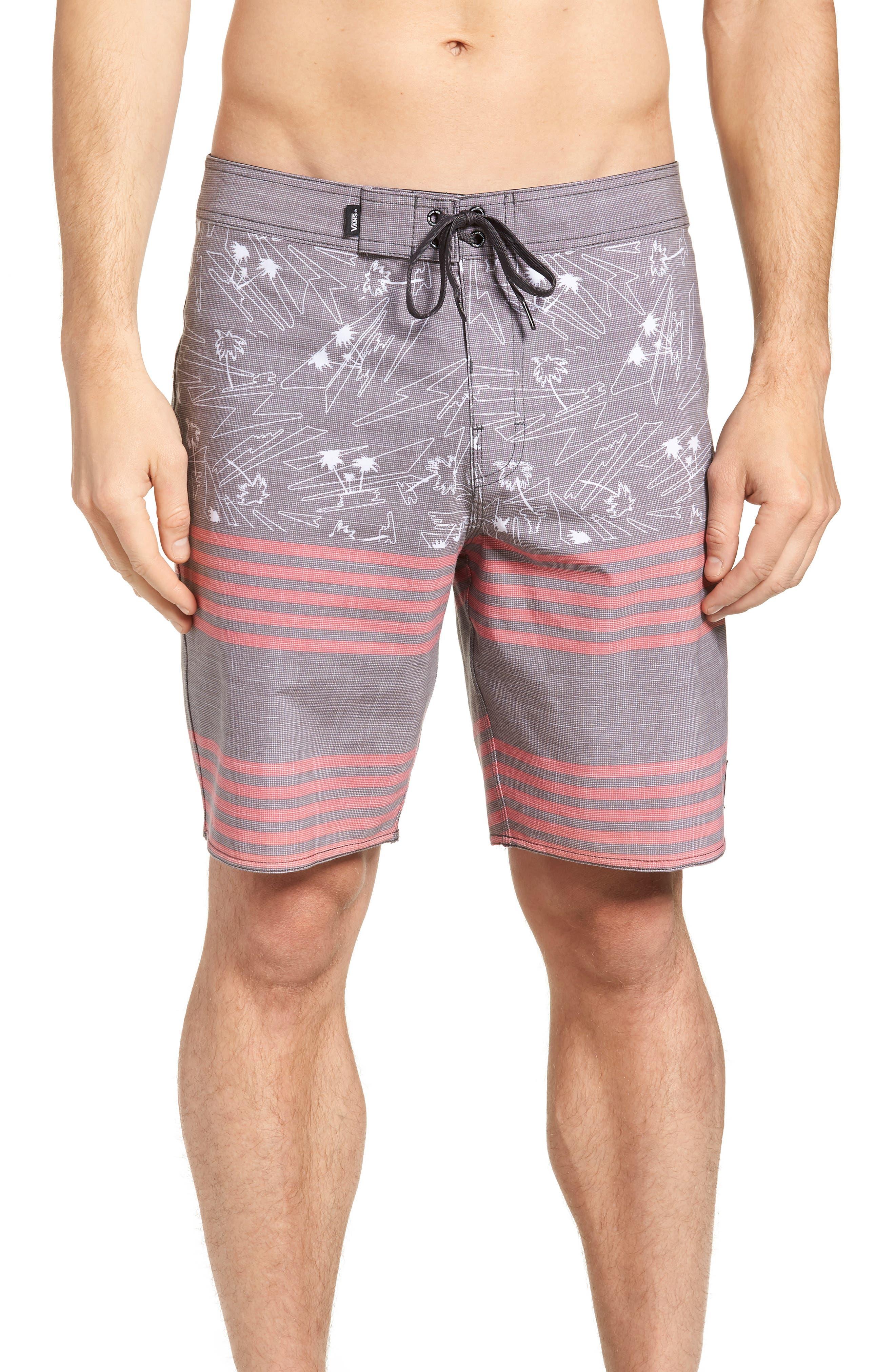 Era Board Shorts,                         Main,                         color, BLACK ISLAND BEACH