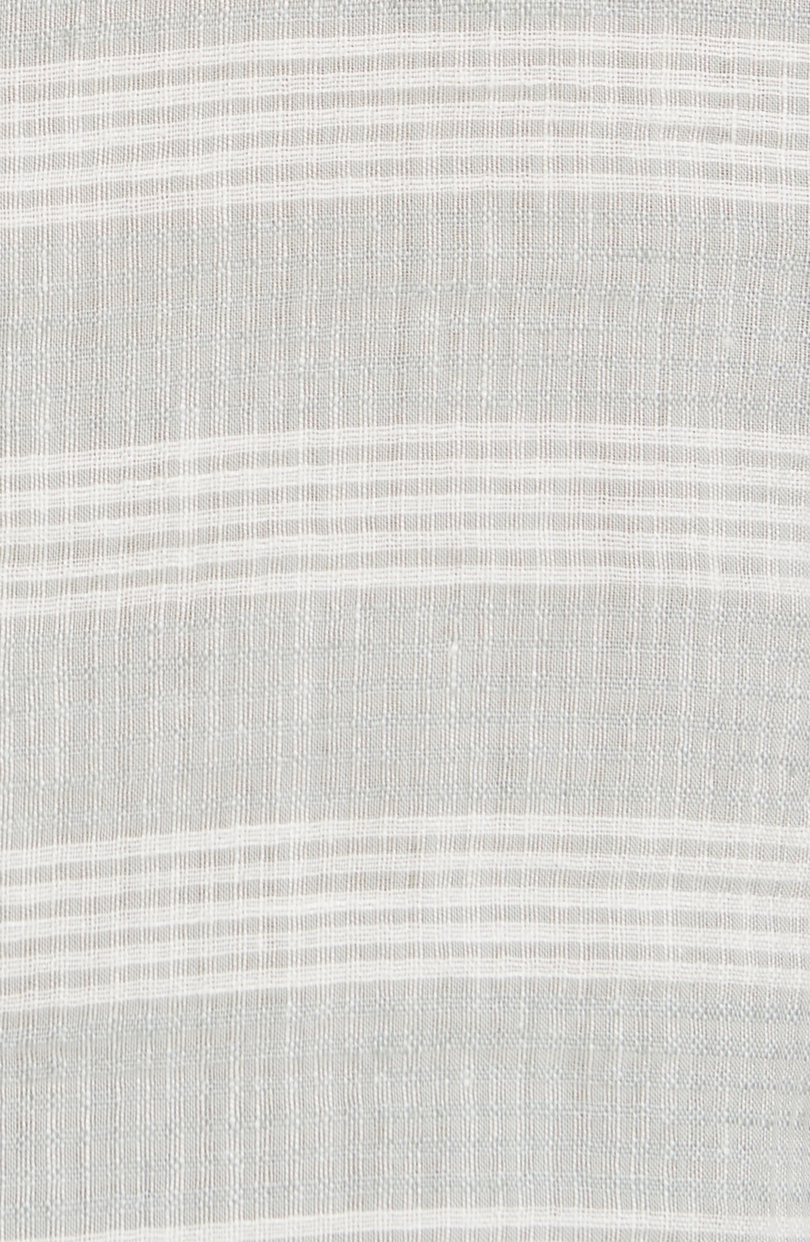 Chambray Stripe Pullover Woven Shirt,                             Alternate thumbnail 5, color,                             GREY