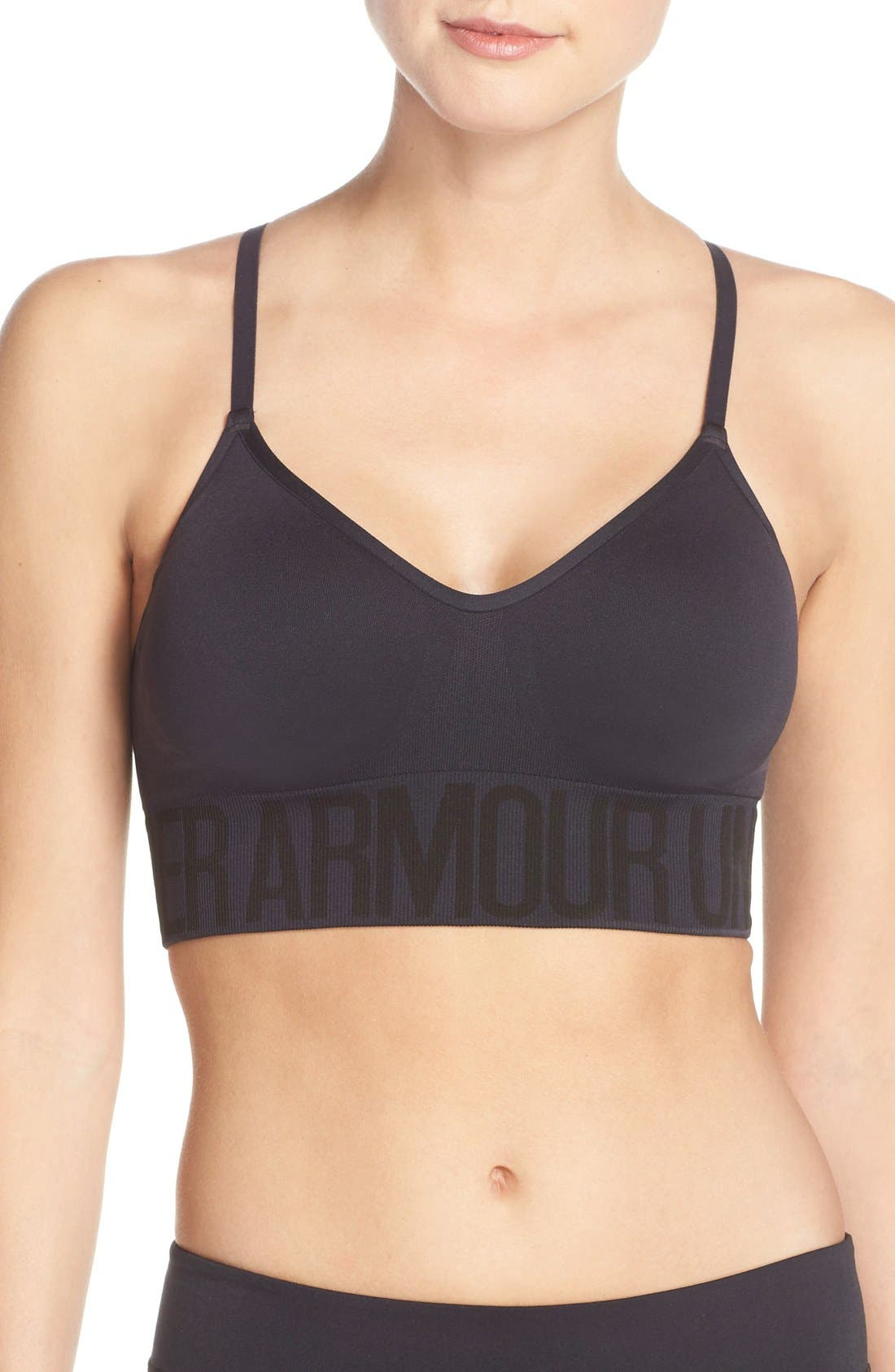 Seamless HeatGear<sup>®</sup> Sports Bra,                             Main thumbnail 2, color,