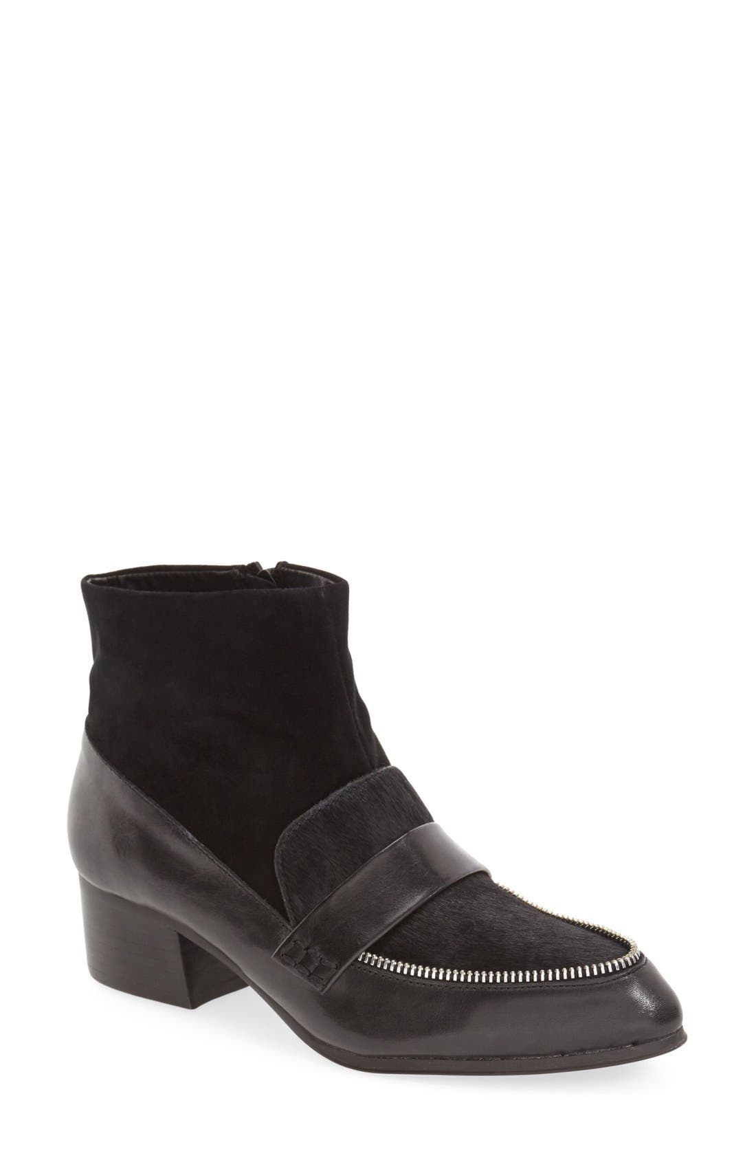 'Colchester' Genuine Calf Hair Bootie,                         Main,                         color, 001