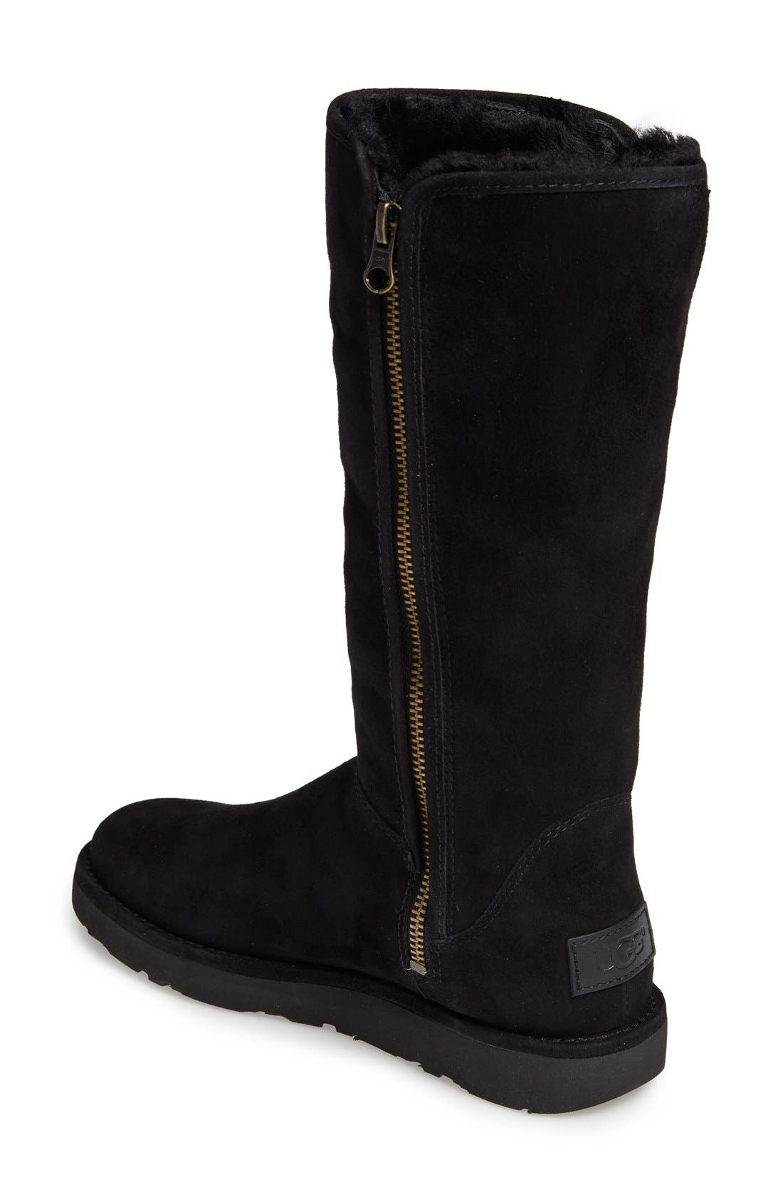 Abree II Tall Boot,                             Alternate thumbnail 6, color,                             NERO SUEDE