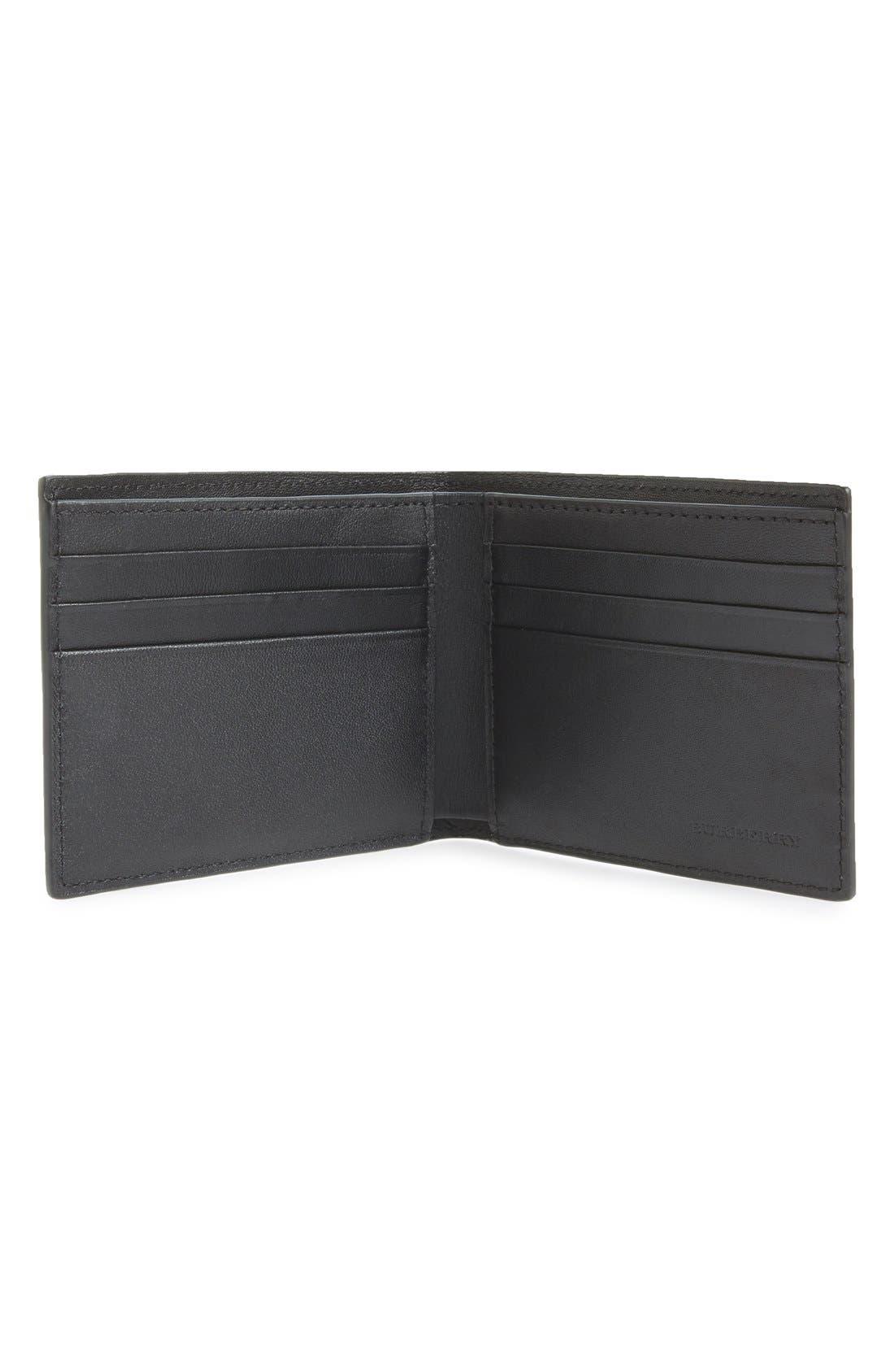 Check Wallet,                             Alternate thumbnail 3, color,                             NAVY/ BLACK