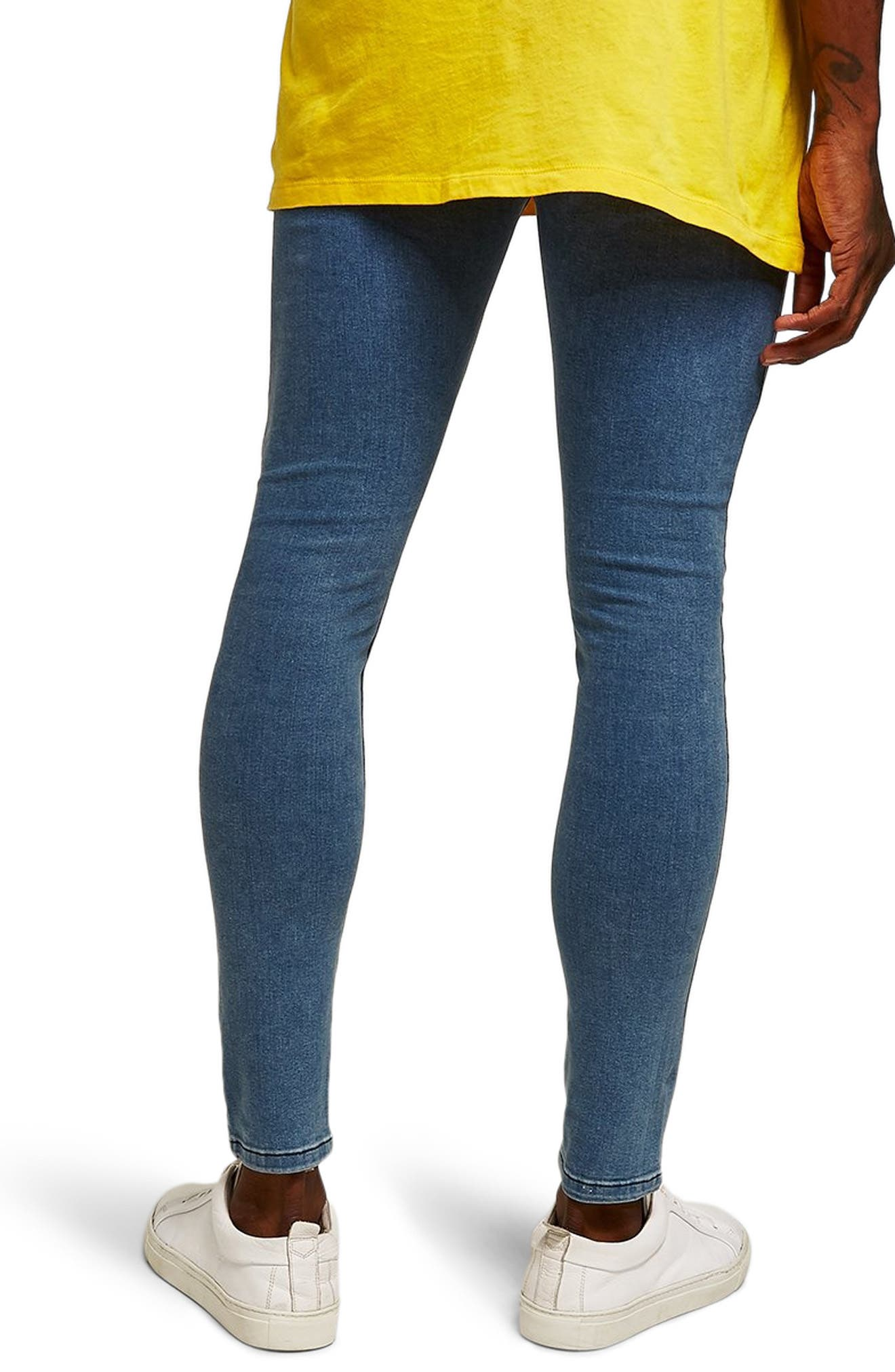 Spray-On Skinny Fit Jeans,                             Alternate thumbnail 2, color,                             BLUE