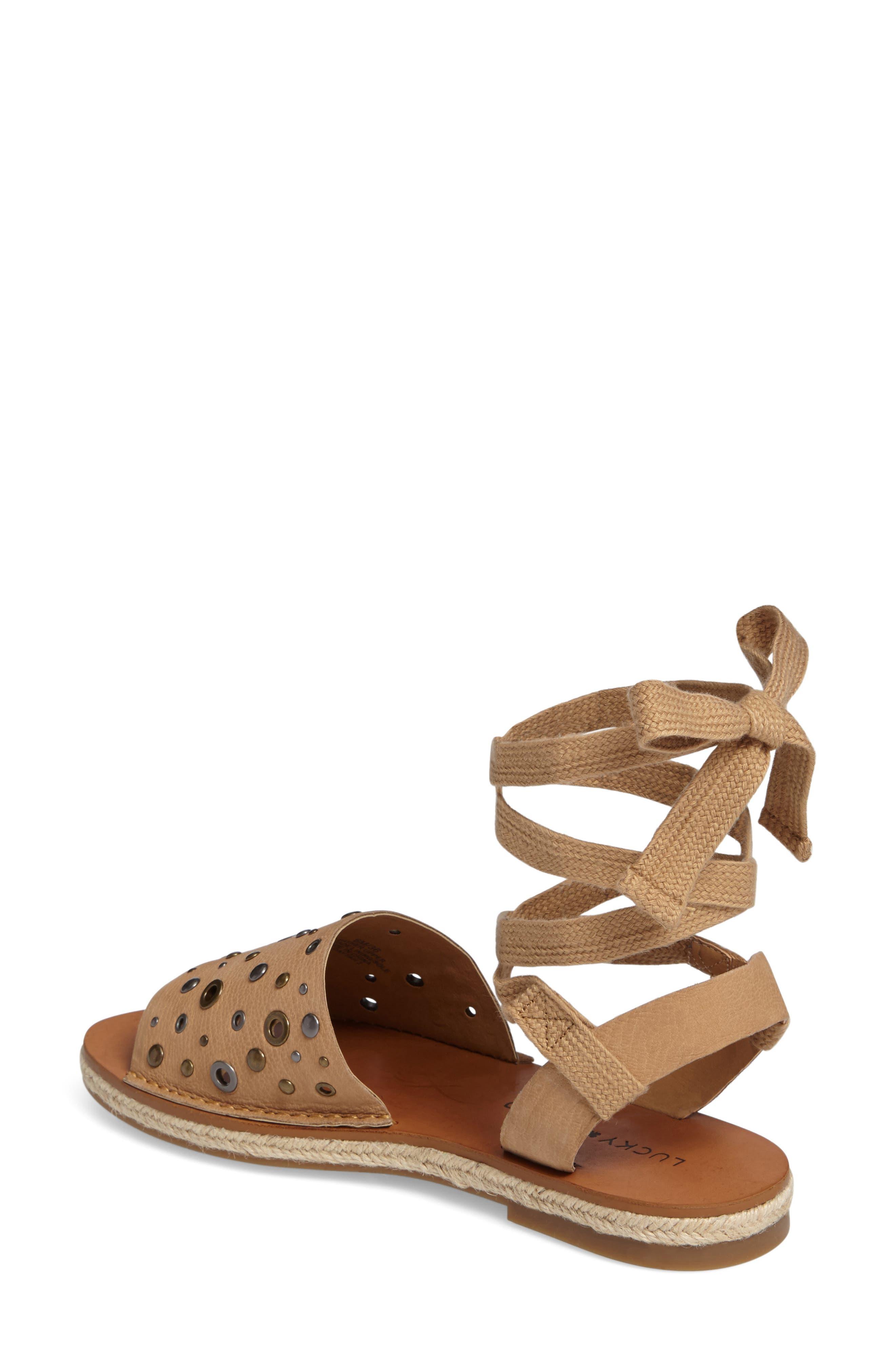 Daytah Ankle Tie Sandal,                             Alternate thumbnail 7, color,