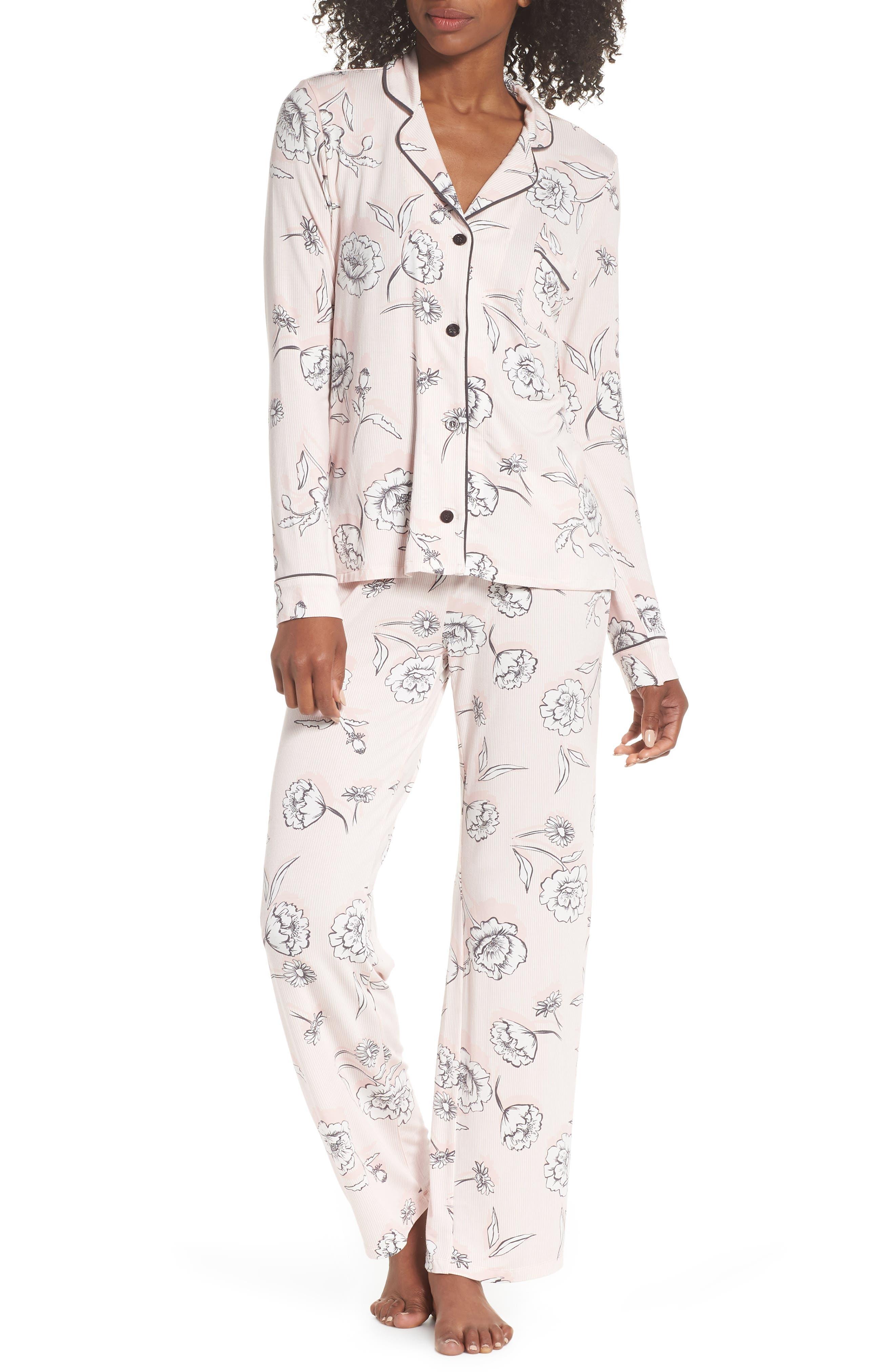 Shadow Floral Pajamas,                             Main thumbnail 1, color,                             650