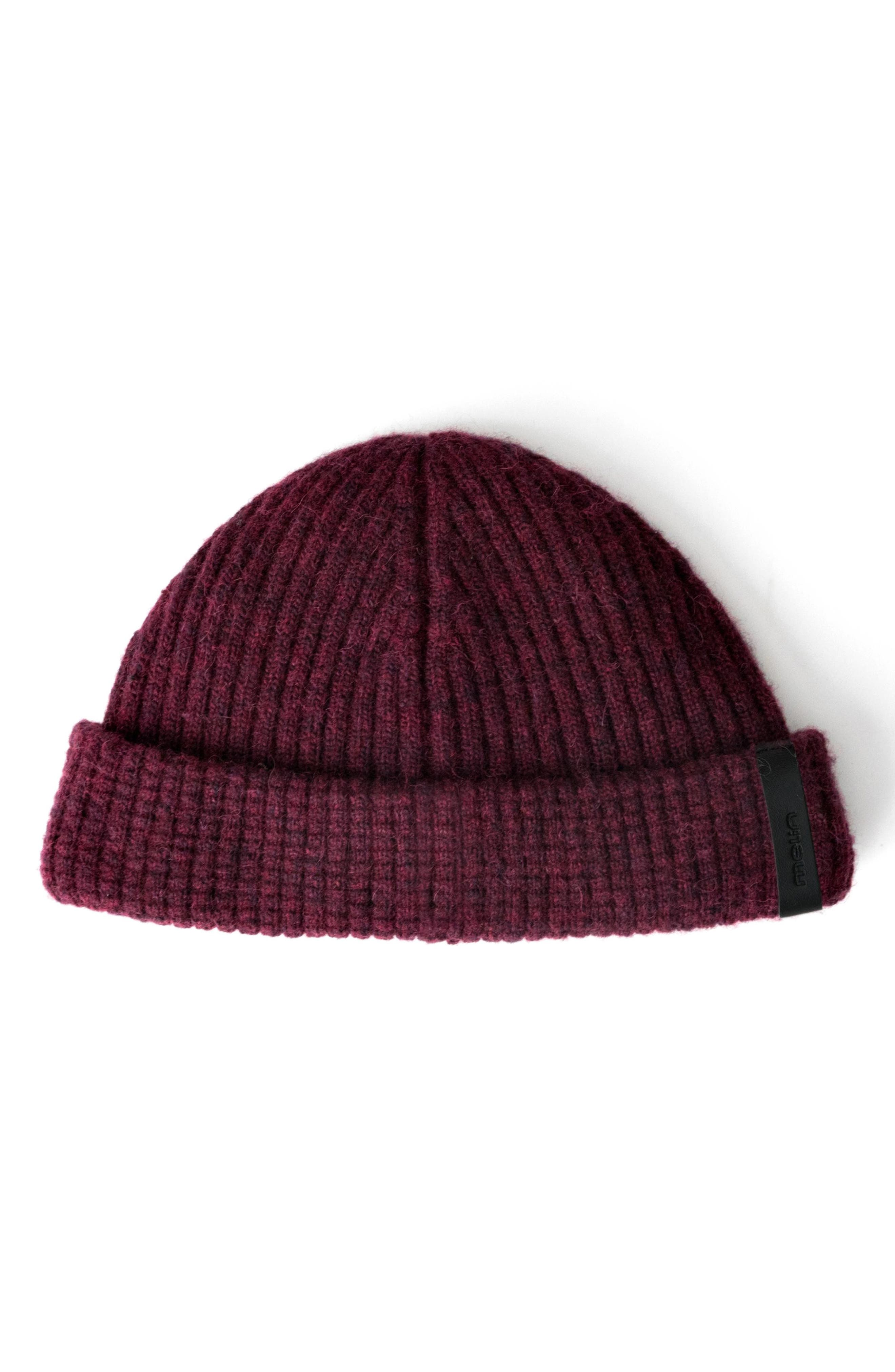 MELIN The Destination Short Beanie - Red in Deep Red