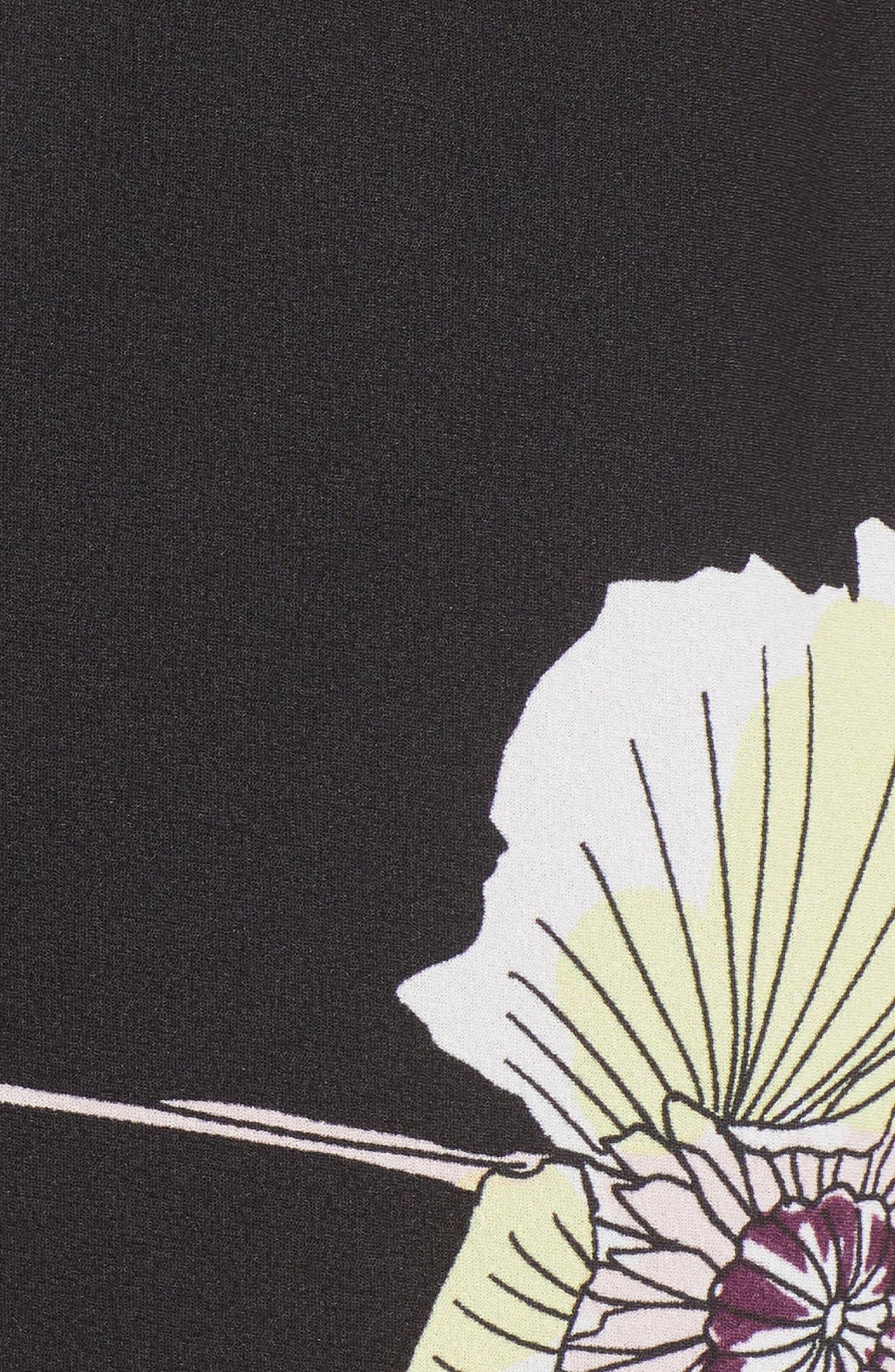 Cowl Neck Slipdress,                             Alternate thumbnail 6, color,                             RICH BLACK