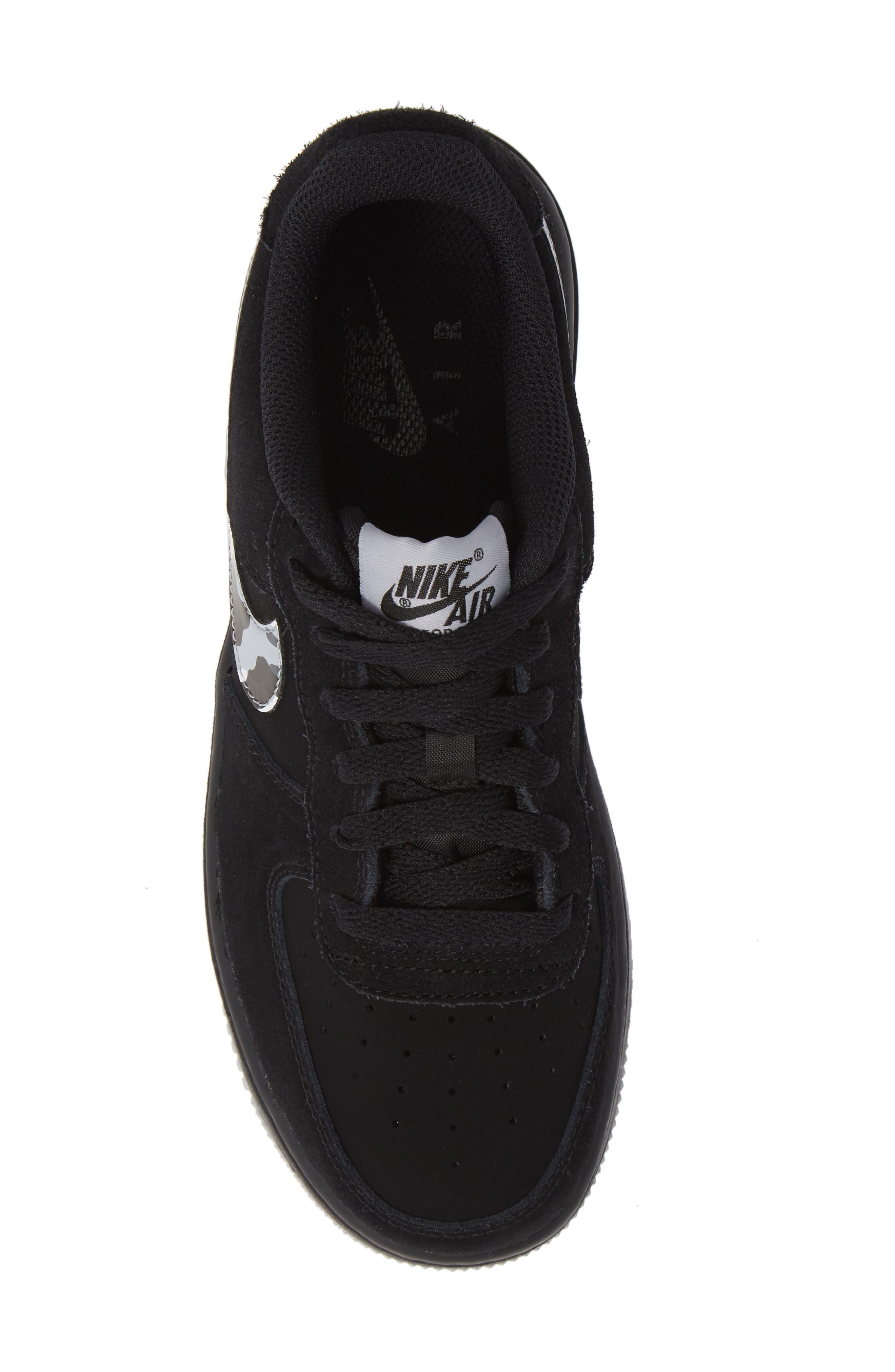 Air Force 1 Sneaker,                             Alternate thumbnail 5, color,                             BLACK/ GREY/ WHITE