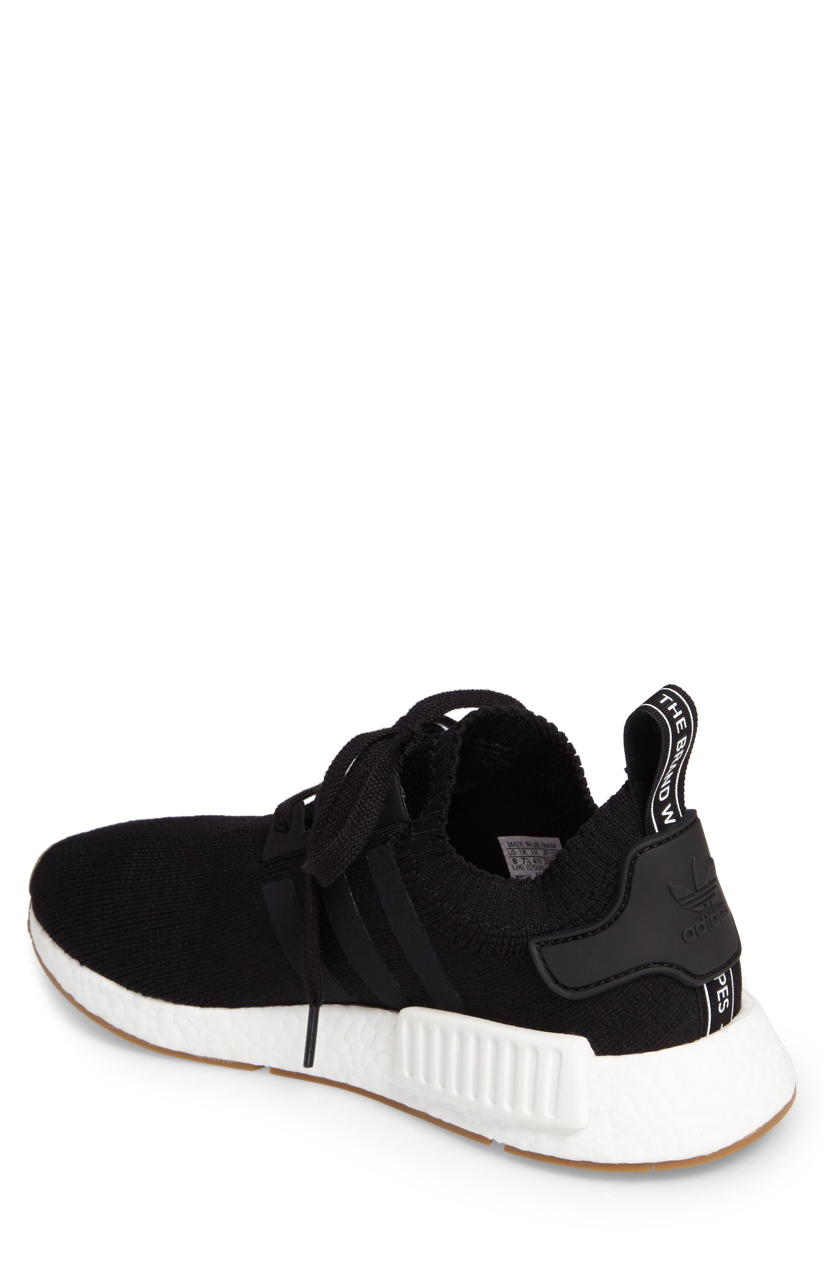 NMD R1 Primeknit Sneaker,                             Alternate thumbnail 2, color,                             002