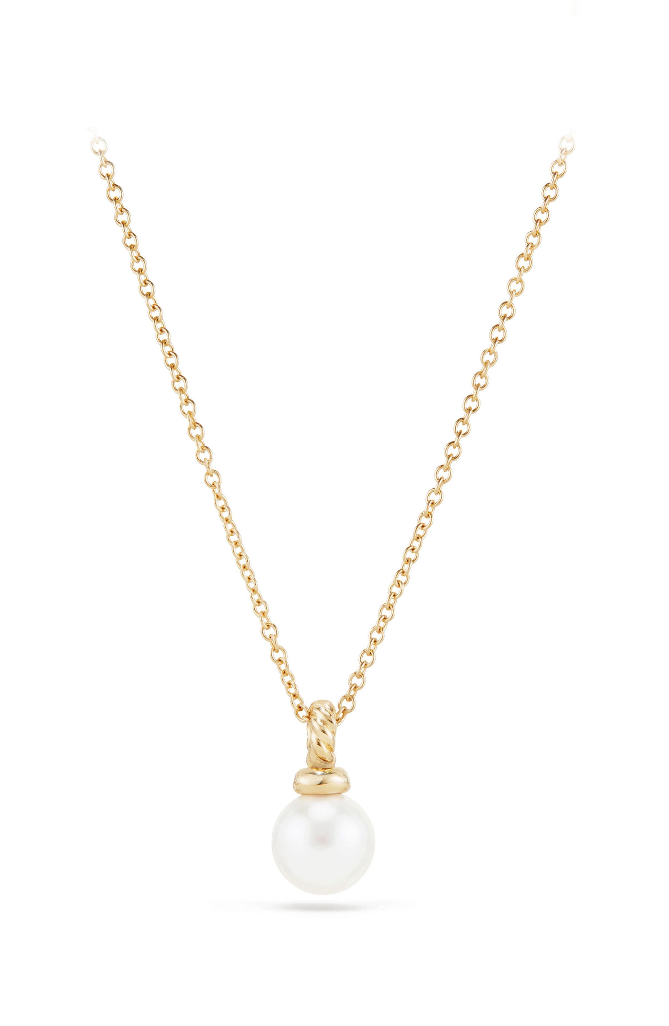 Solari Pendant Necklace with Pearl & Diamonds in 18K Gold,                             Alternate thumbnail 3, color,                             YELLOW GOLD/ DIAMOND/ PEARL