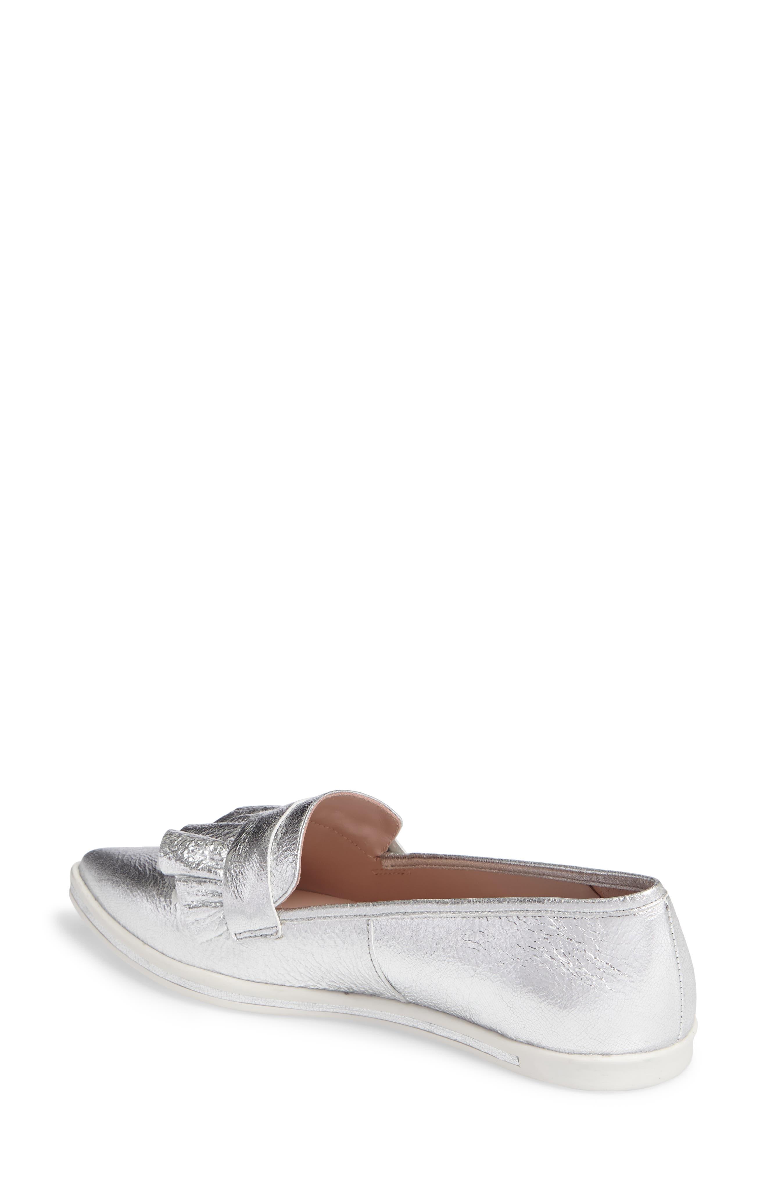 Taraji Ruffle Slip-On Sneaker,                             Alternate thumbnail 6, color,