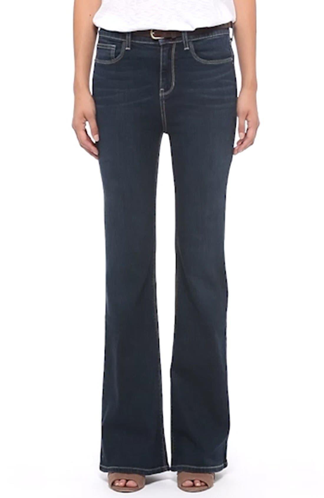 High Rise Flare Leg Jeans,                             Alternate thumbnail 2, color,                             400
