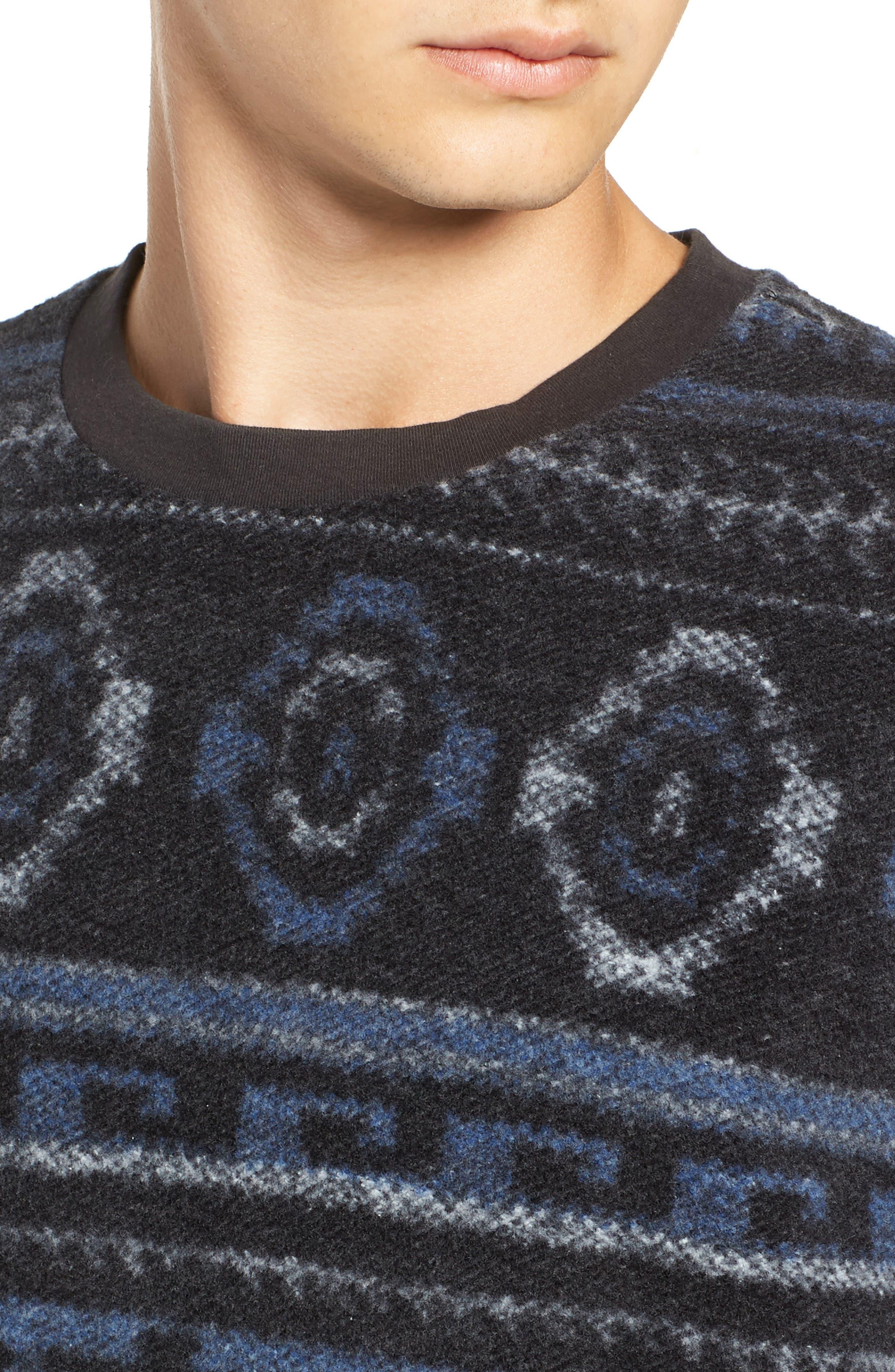 Fleece Sweatshirt,                             Alternate thumbnail 4, color,                             020