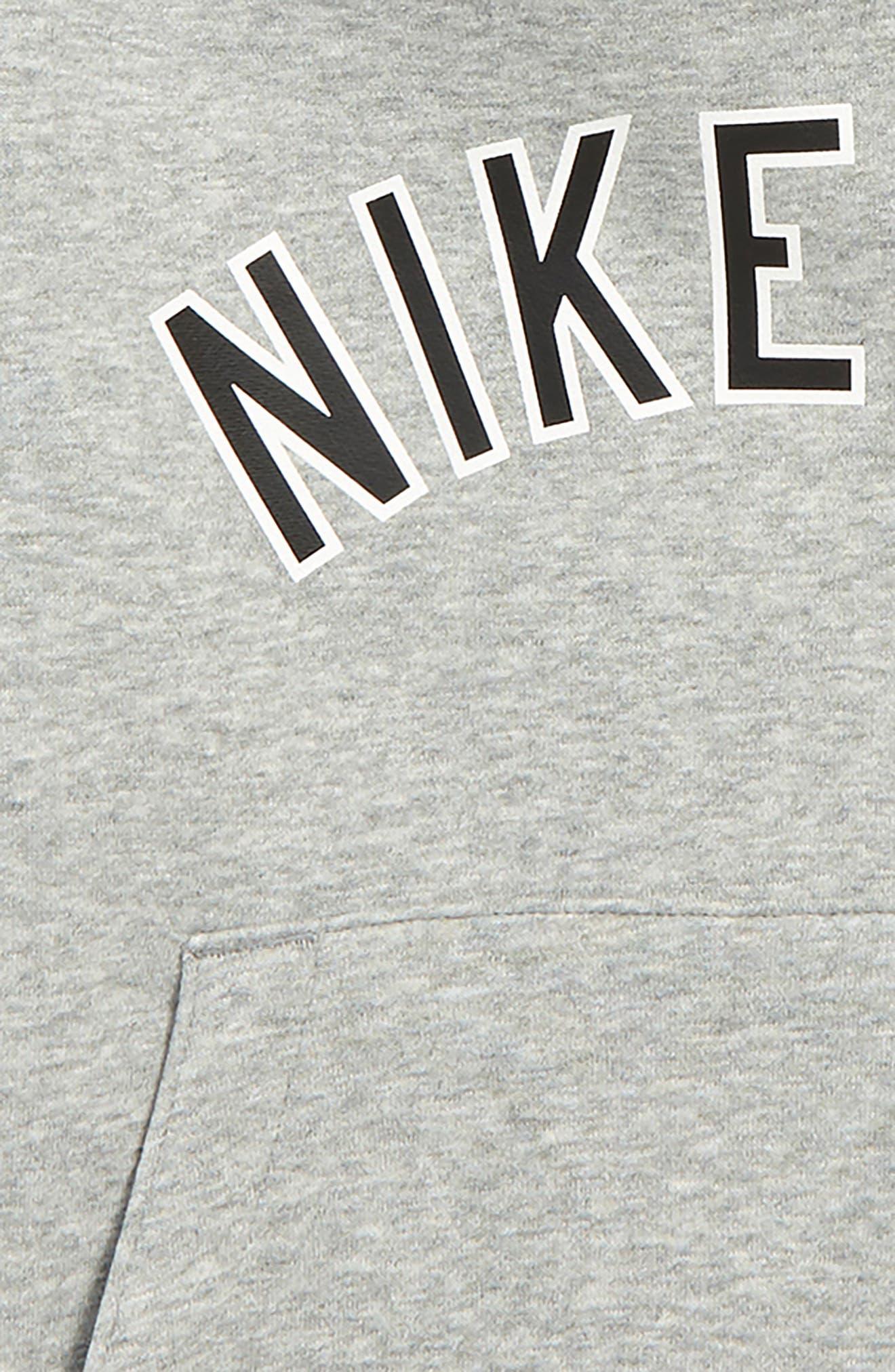 NIKE,                             Air Logo Hoodie,                             Alternate thumbnail 2, color,                             DARK GREY HEATHER/ BLACK