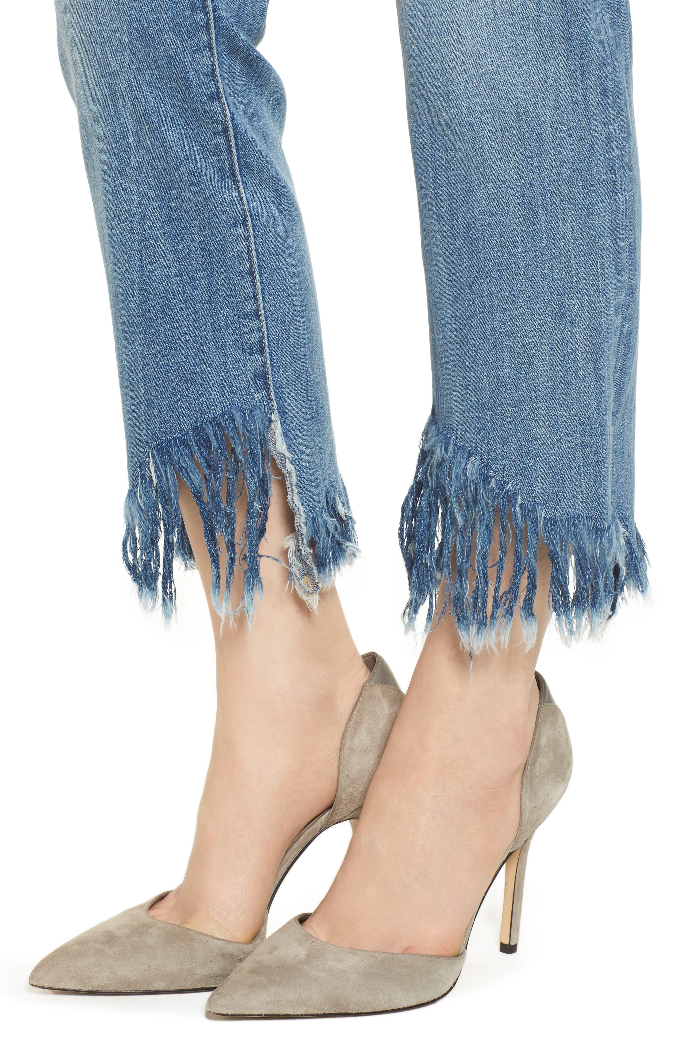 Mara Instasculpt Ankle Straight Leg Jeans,                             Alternate thumbnail 4, color,                             UPSTATE