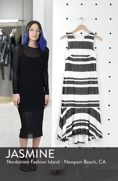 Sleeveless Stripe Trumpet Sheath Dress, sales video thumbnail