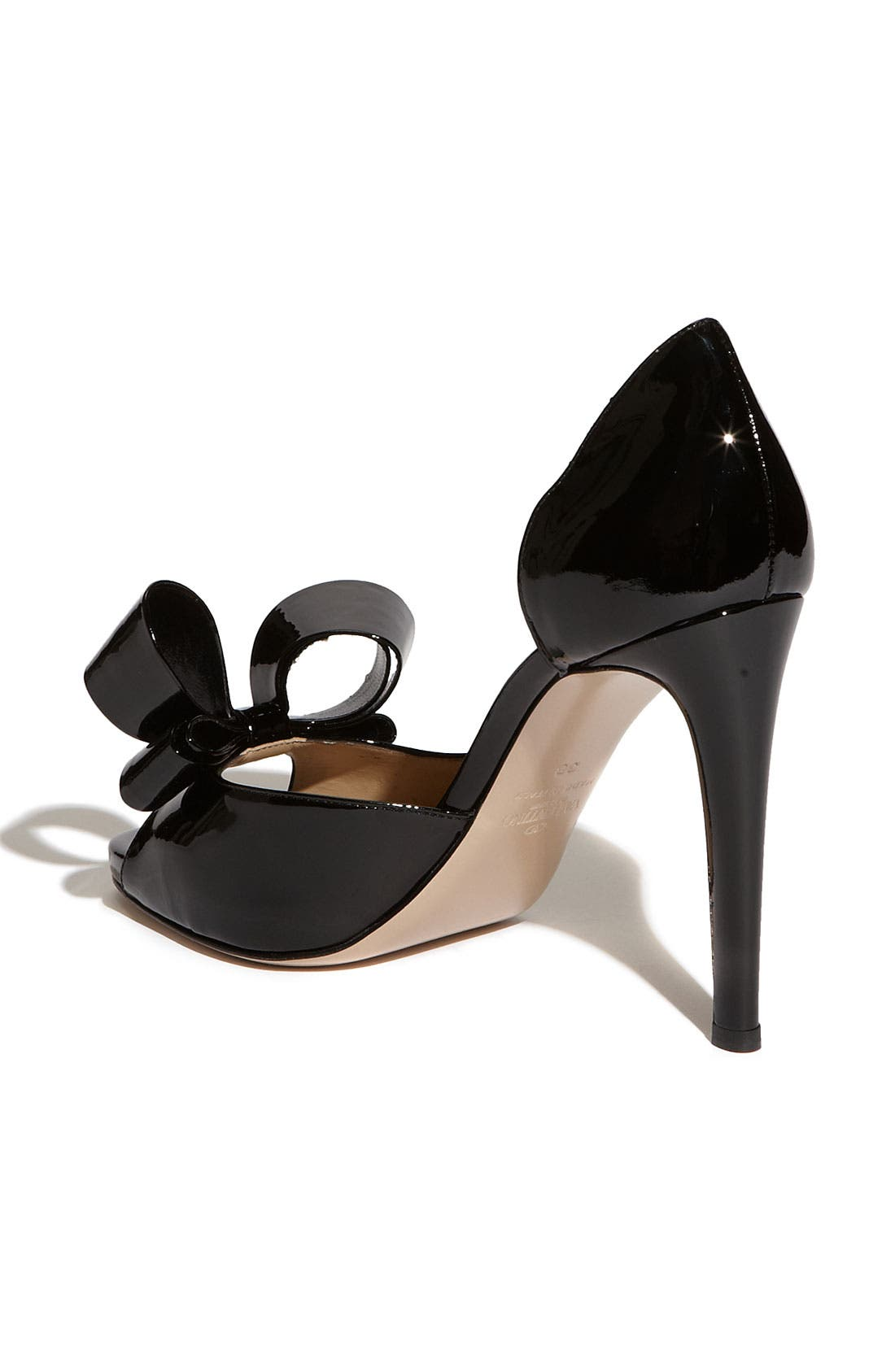 Couture Bow d'Orsay Pump,                             Alternate thumbnail 3, color,                             001