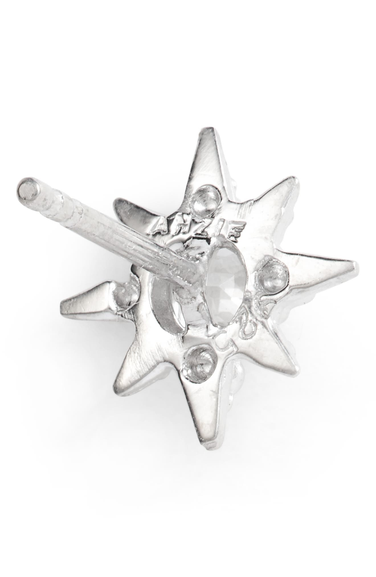 Micro Aztec Starburst Earrings,                             Alternate thumbnail 3, color,                             SILVER