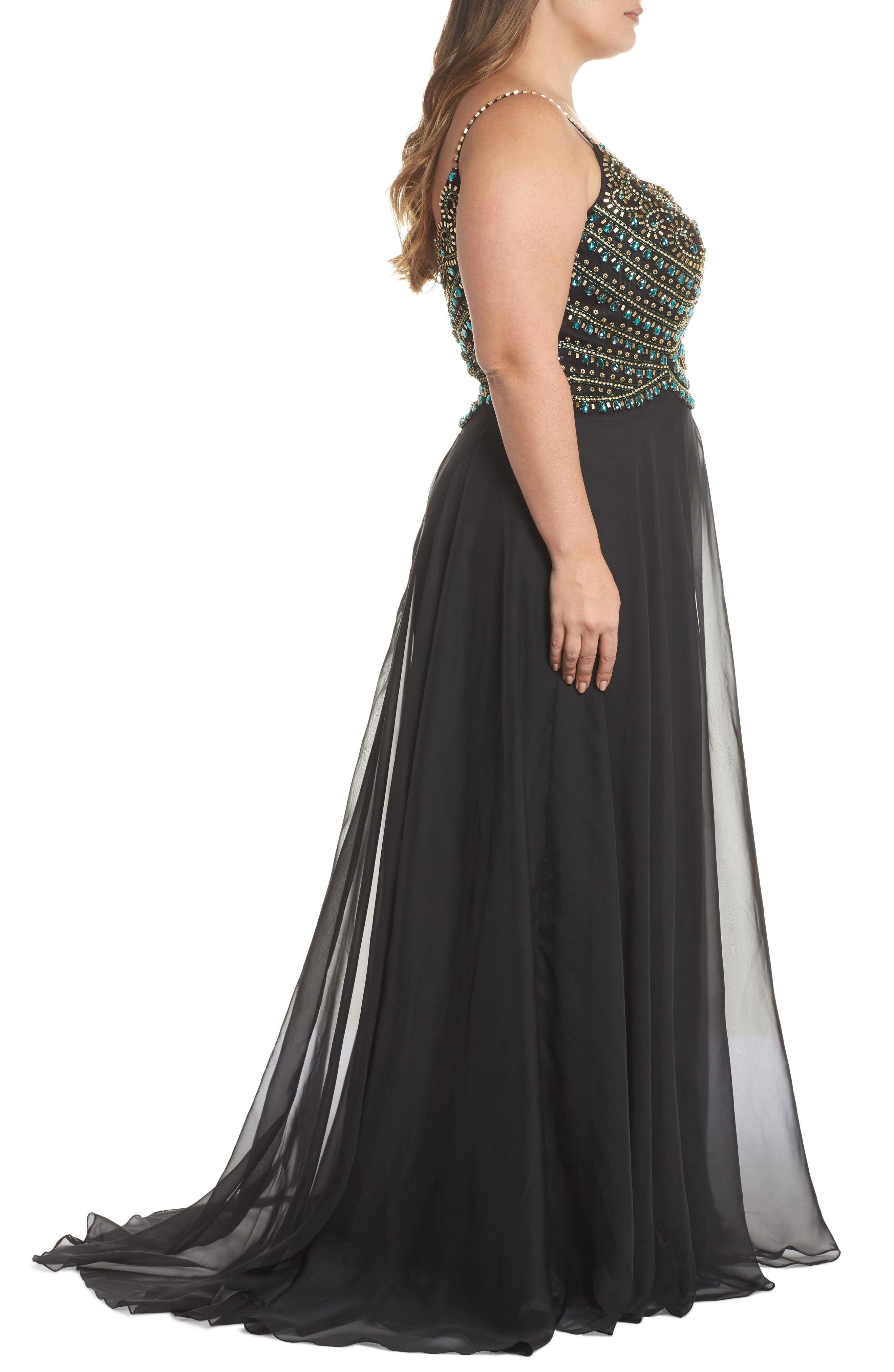 Embellished Gown,                             Alternate thumbnail 3, color,                             001