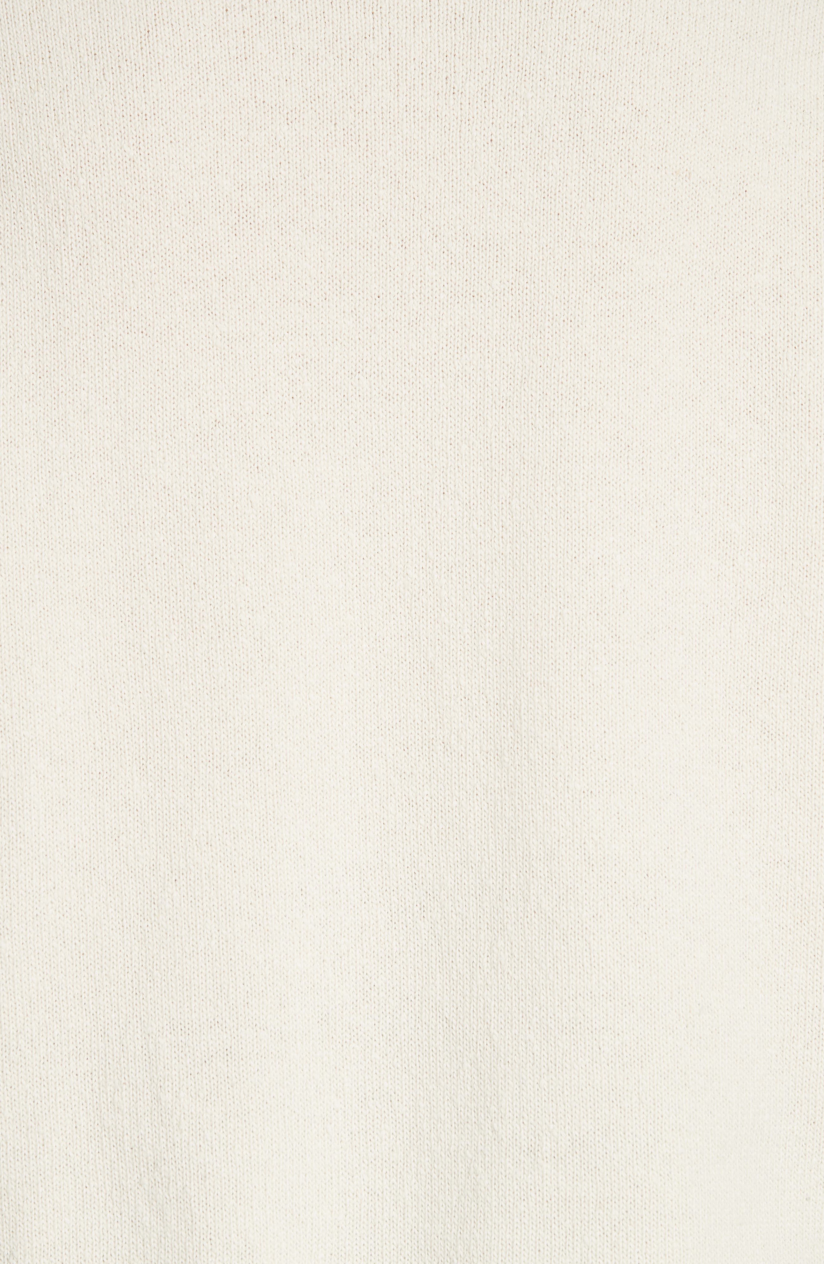 CALVIN KLEIN 205W39NYC,                             Print Wool Sweater,                             Alternate thumbnail 5, color,                             ECRU BLACK RED