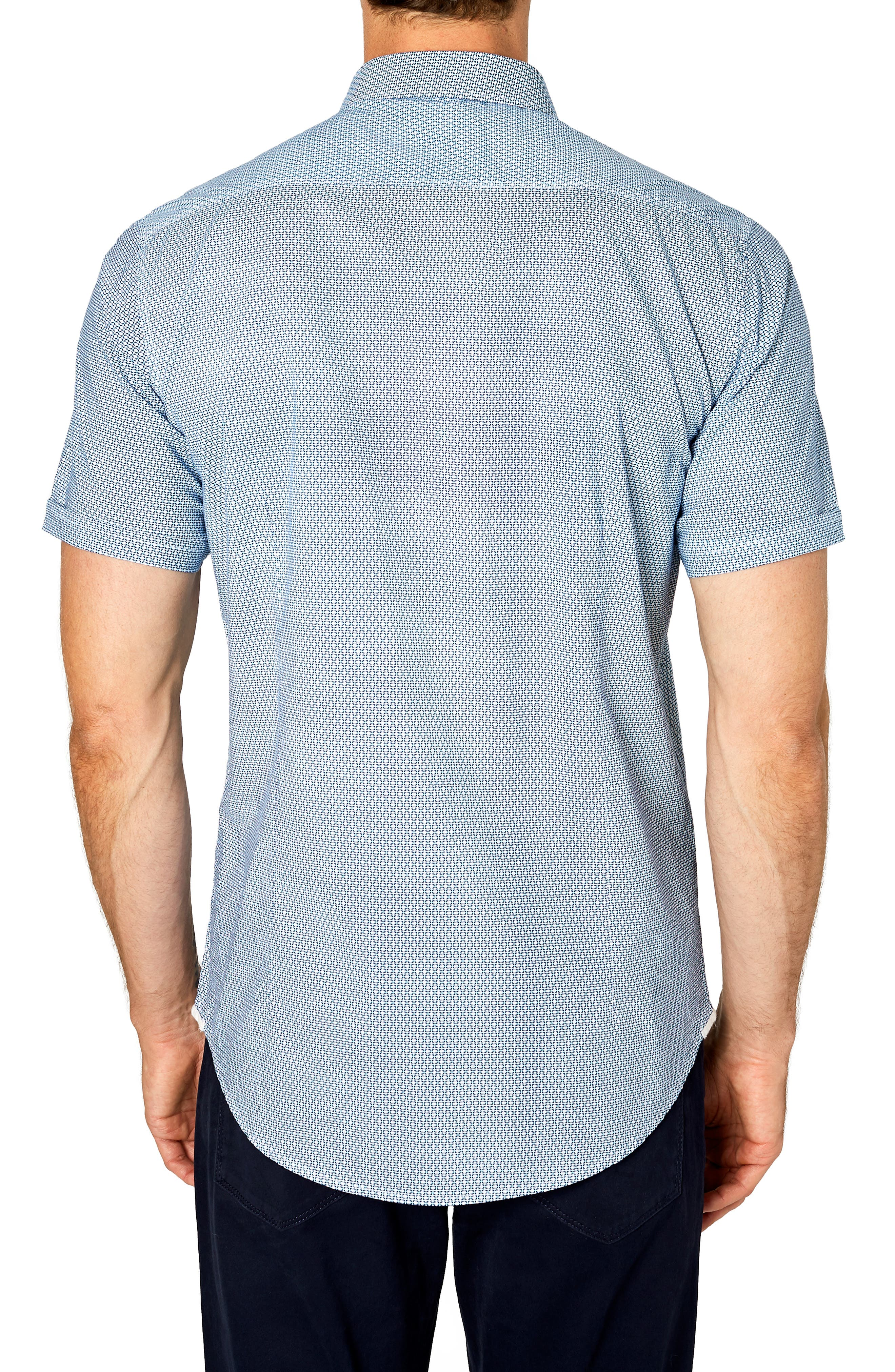 Free Rein Trim Fit Sport Shirt,                             Alternate thumbnail 3, color,                             BLUE