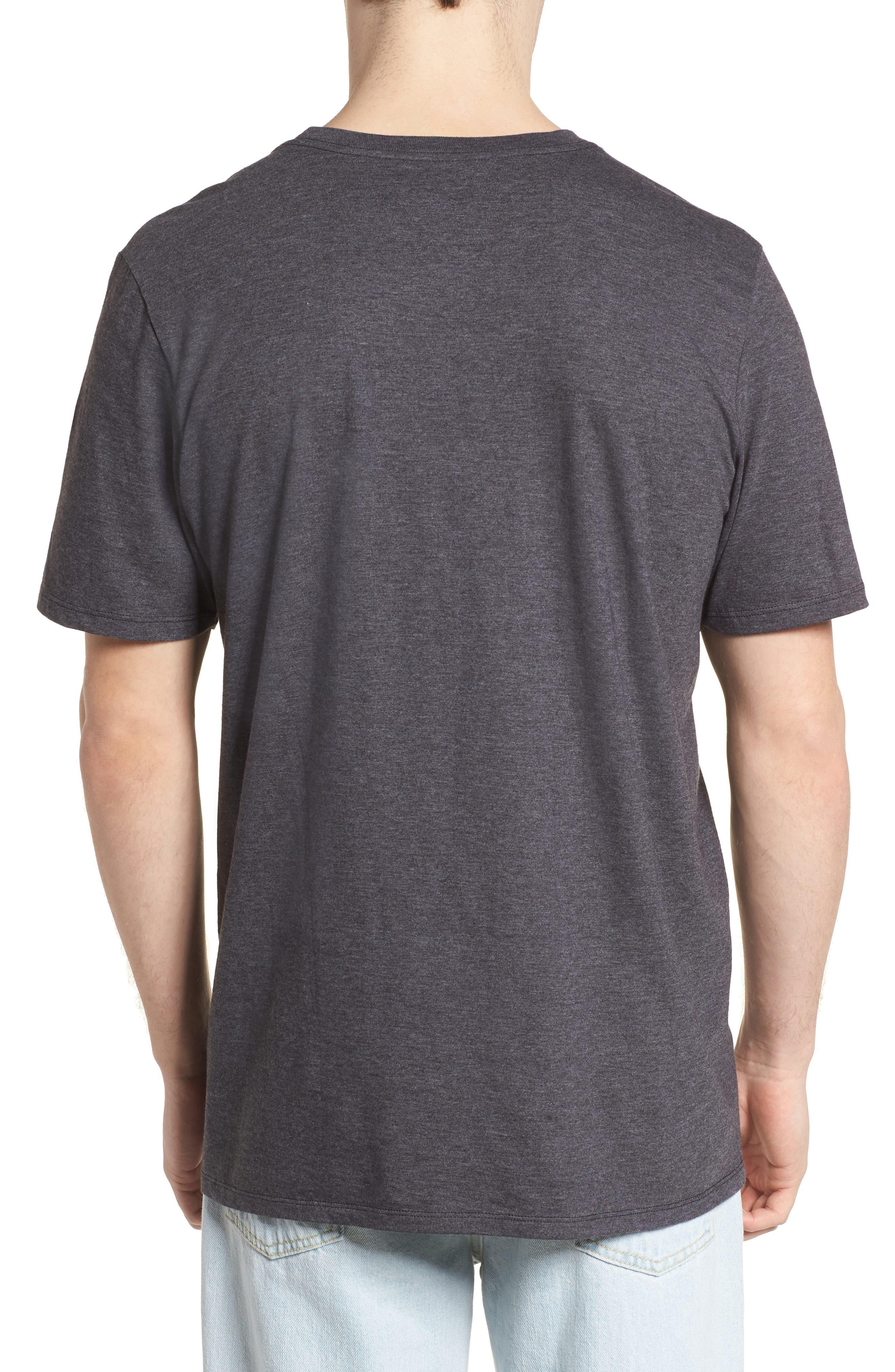 Paradise Script T-Shirt,                             Alternate thumbnail 2, color,                             BLACK HEATHER