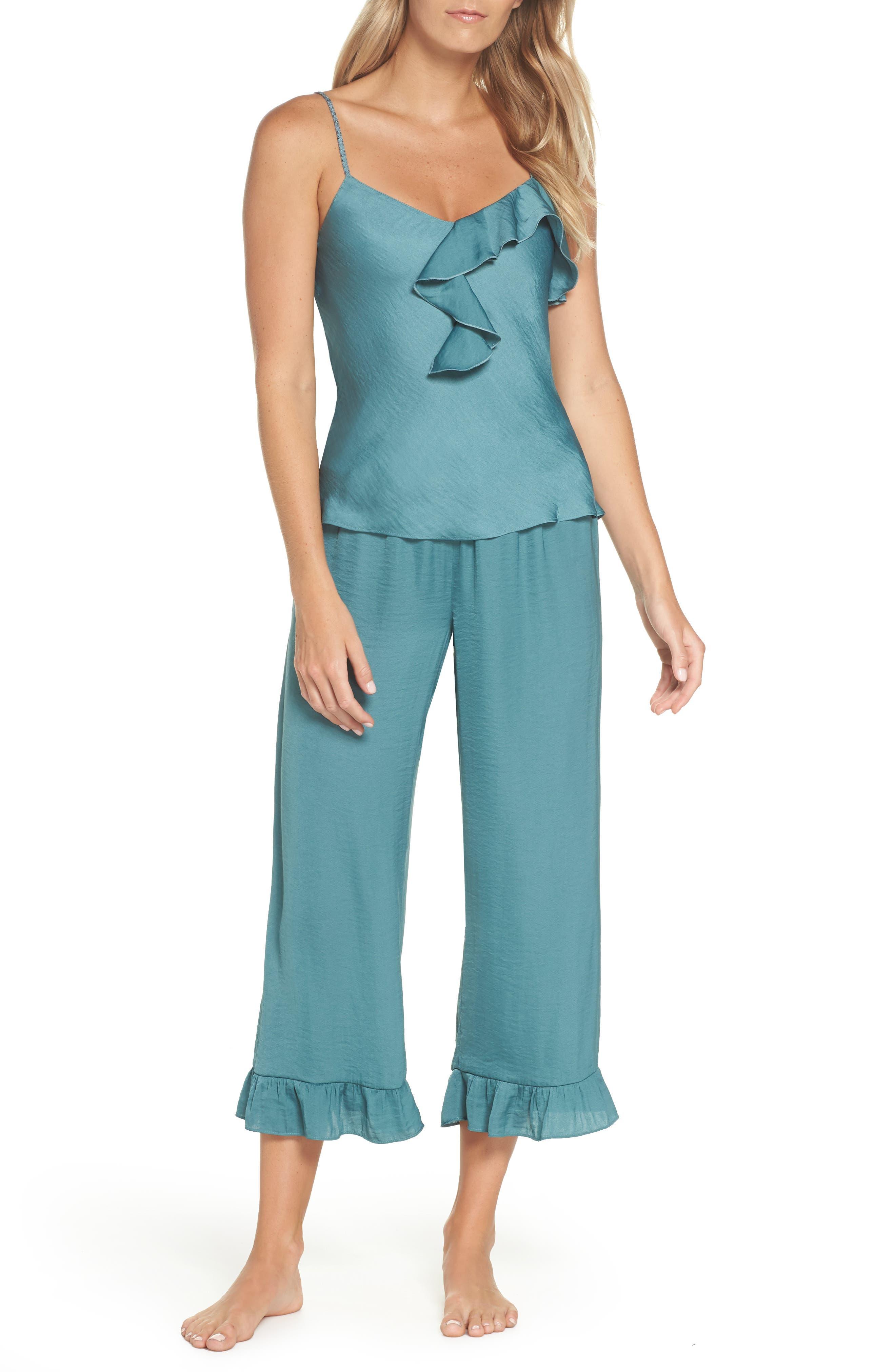 JOSIE Satin Pajamas in Dusty Jade