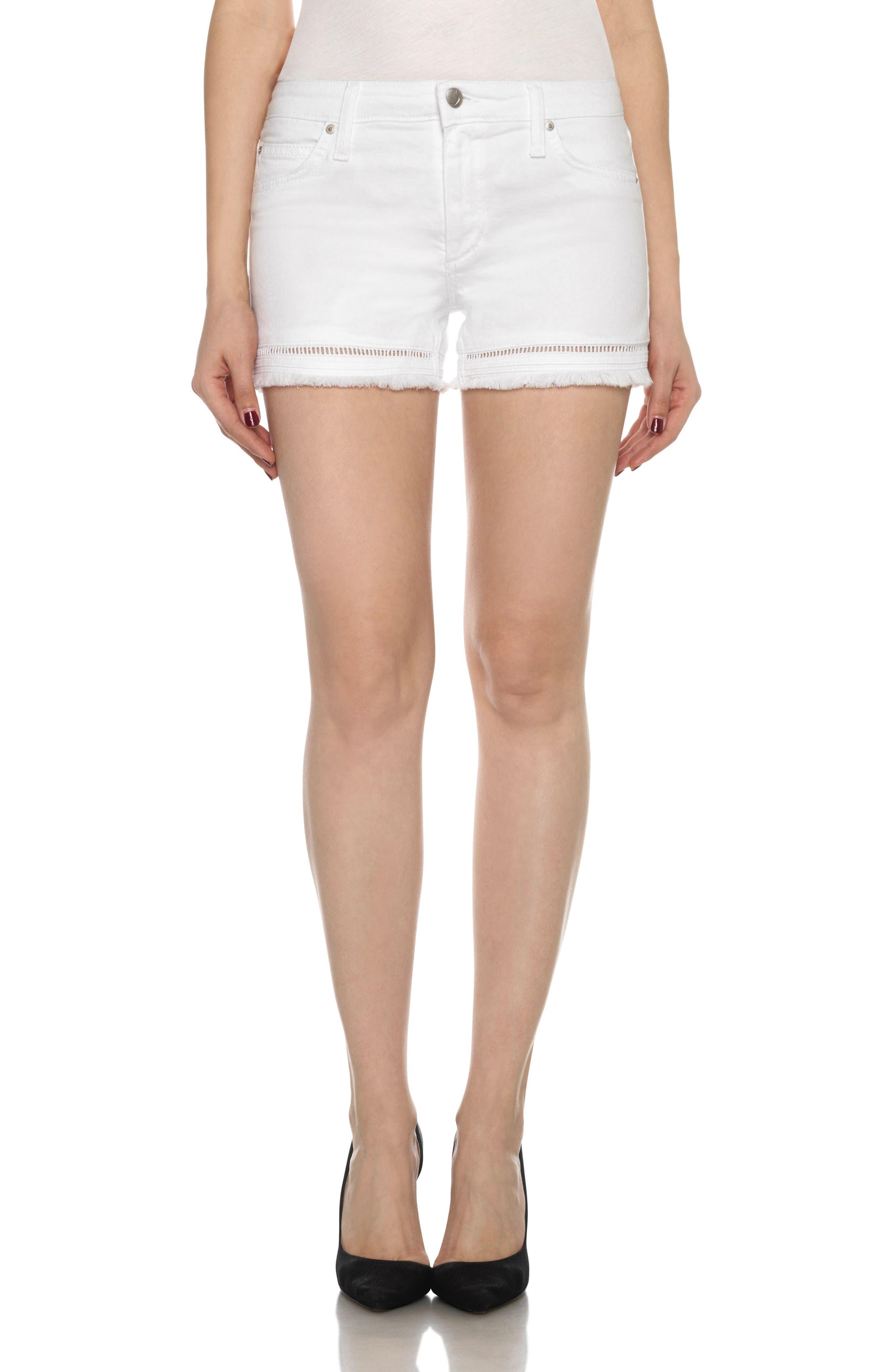 Ozzie Cutoff Denim Shorts,                         Main,                         color, 102
