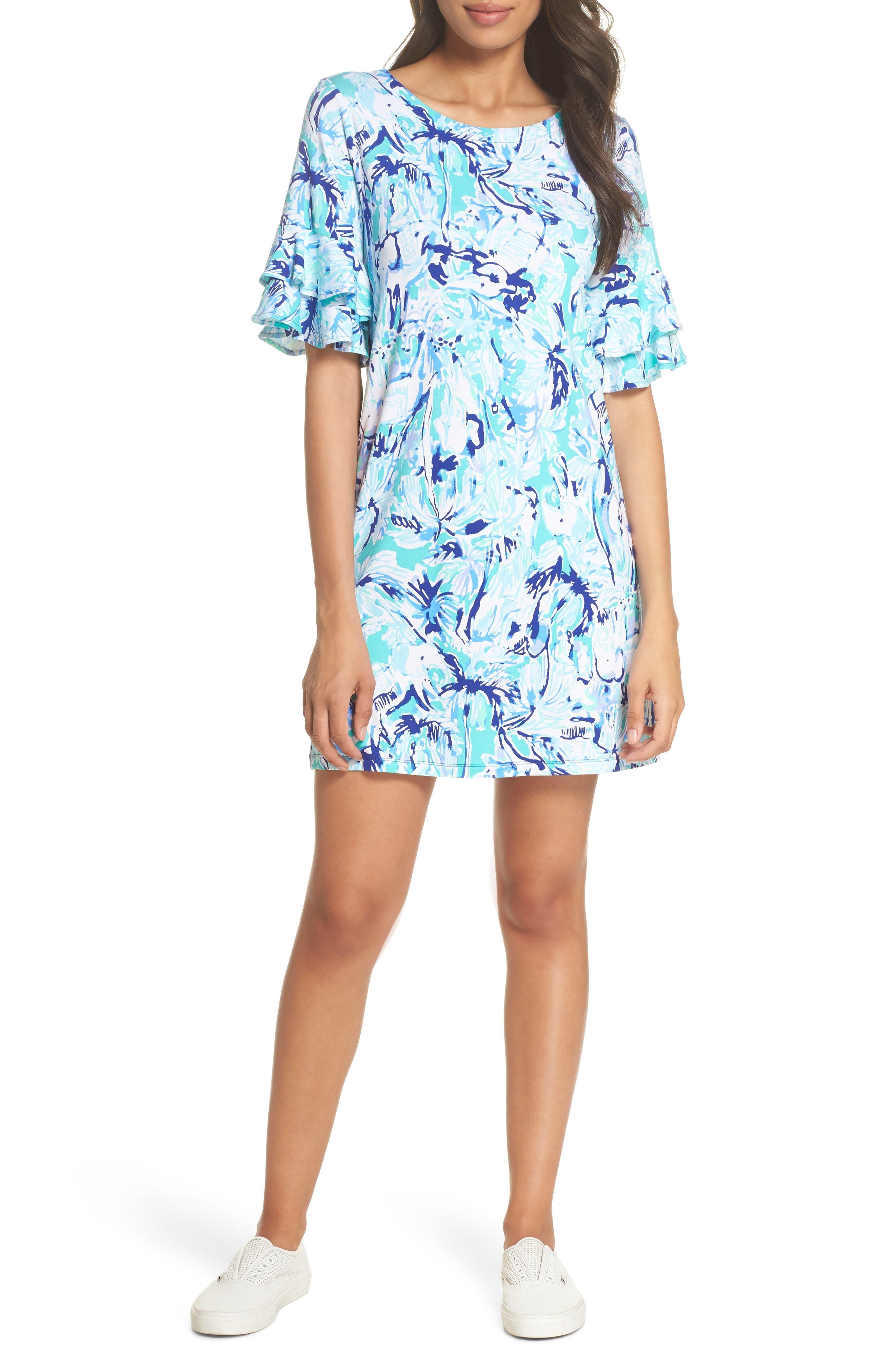 LILLY PULITZER<SUP>®</SUP>,                             Lula Ruffle Sleeve Dress,                             Alternate thumbnail 6, color,                             421